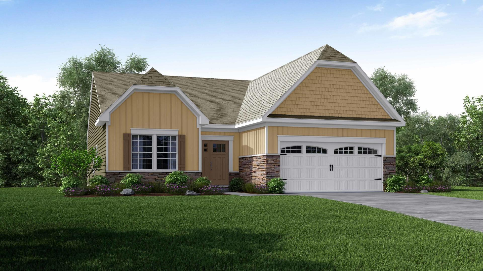 Exterior featured in the Richmond By Maronda Homes in Pittsburgh, PA