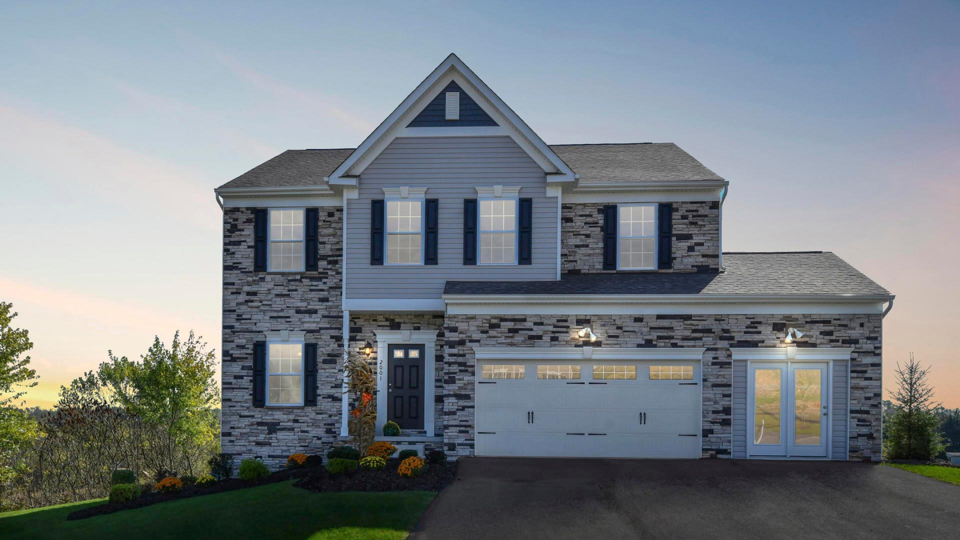 Exterior featured in the Nashville By Maronda Homes in Pittsburgh, PA