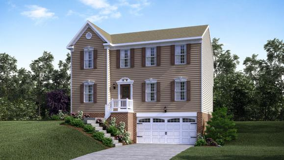 Exterior:Elevation: G Siding Facade with Opt Garage Door