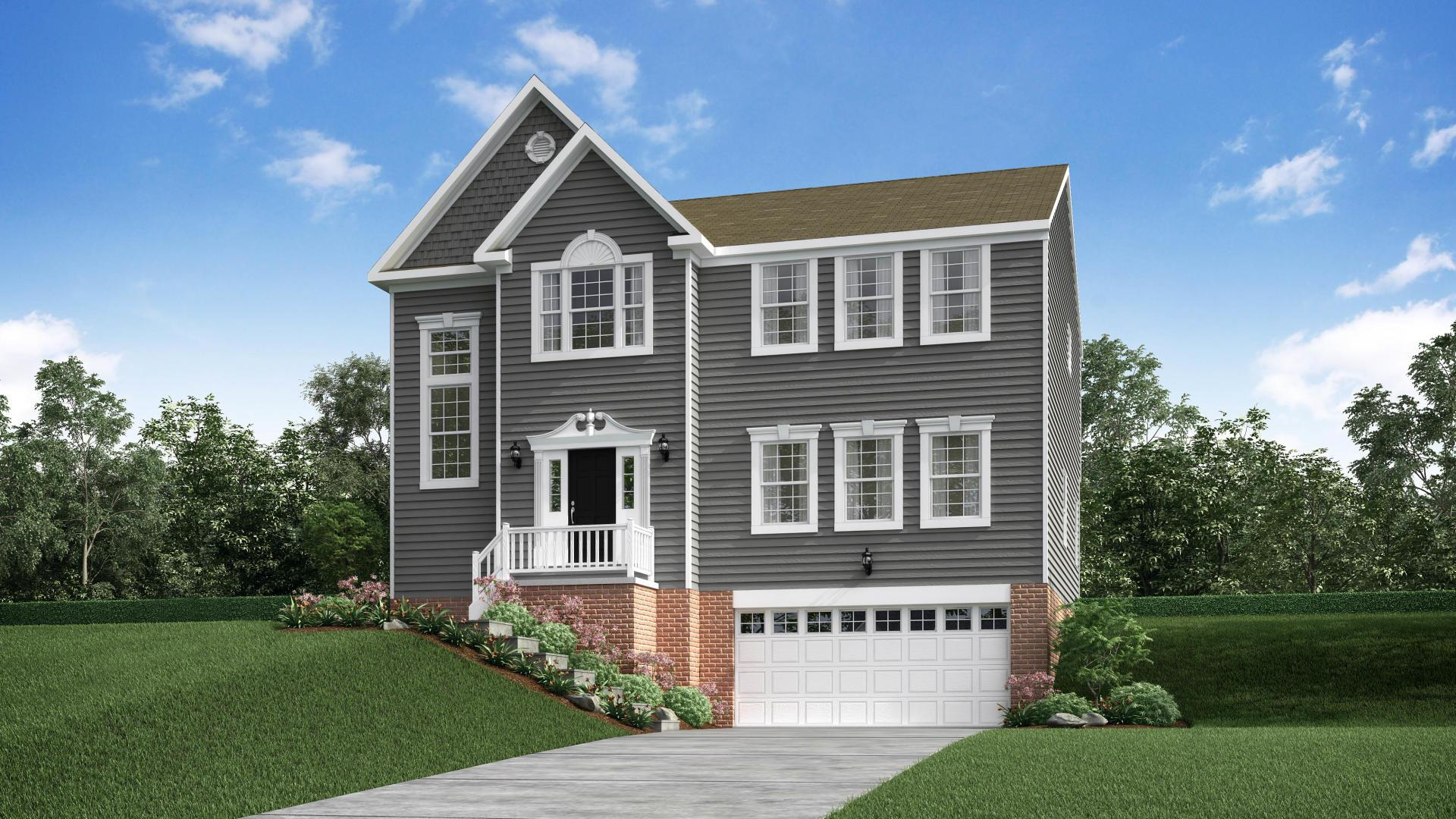 Exterior featured in the New Haven By Maronda Homes in Pittsburgh, PA