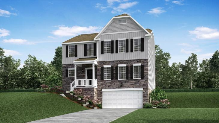 Exterior:Elevation: G New England with Optional Stone