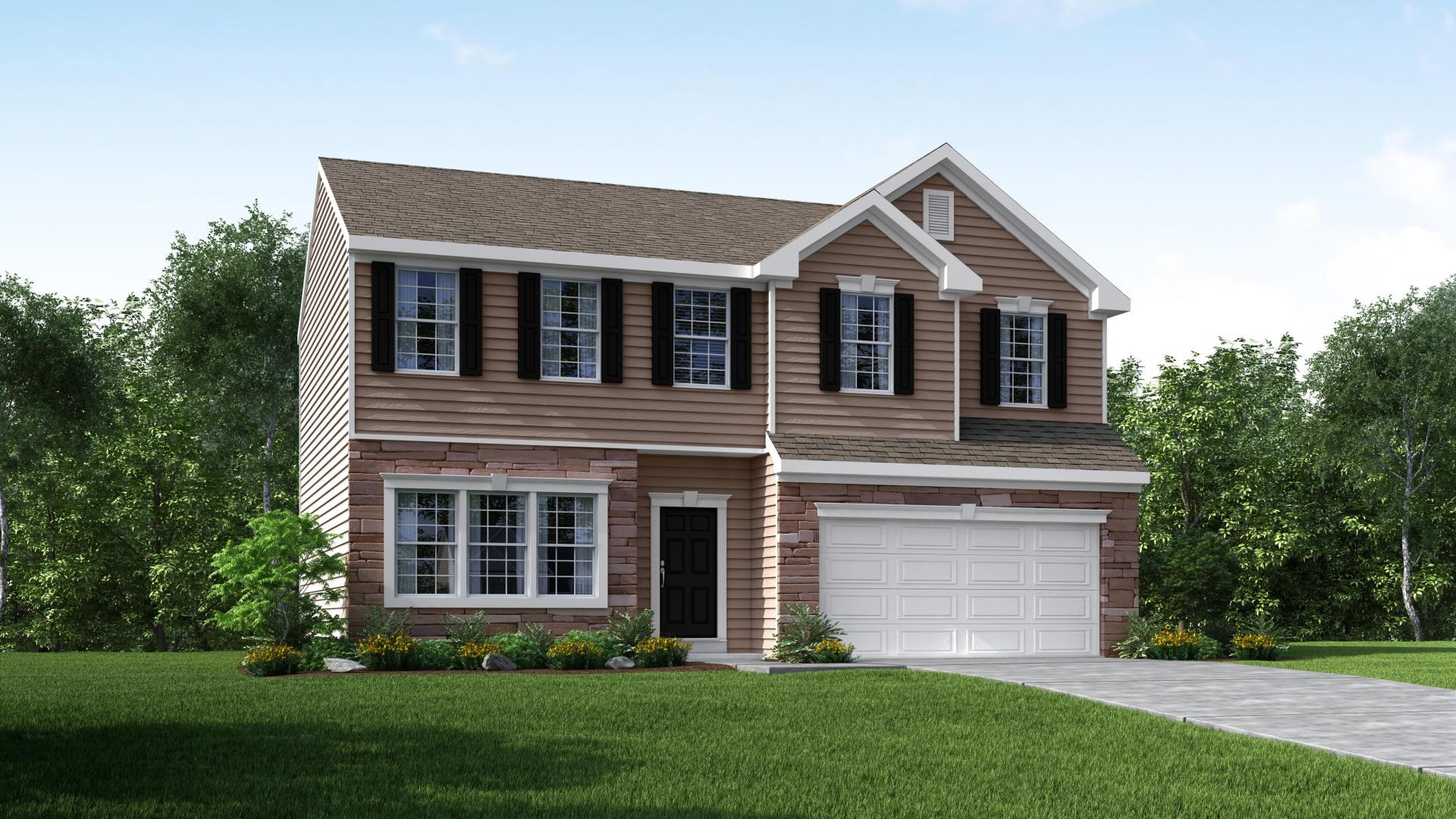 Exterior featured in the Dallas By Maronda Homes in Columbus, OH
