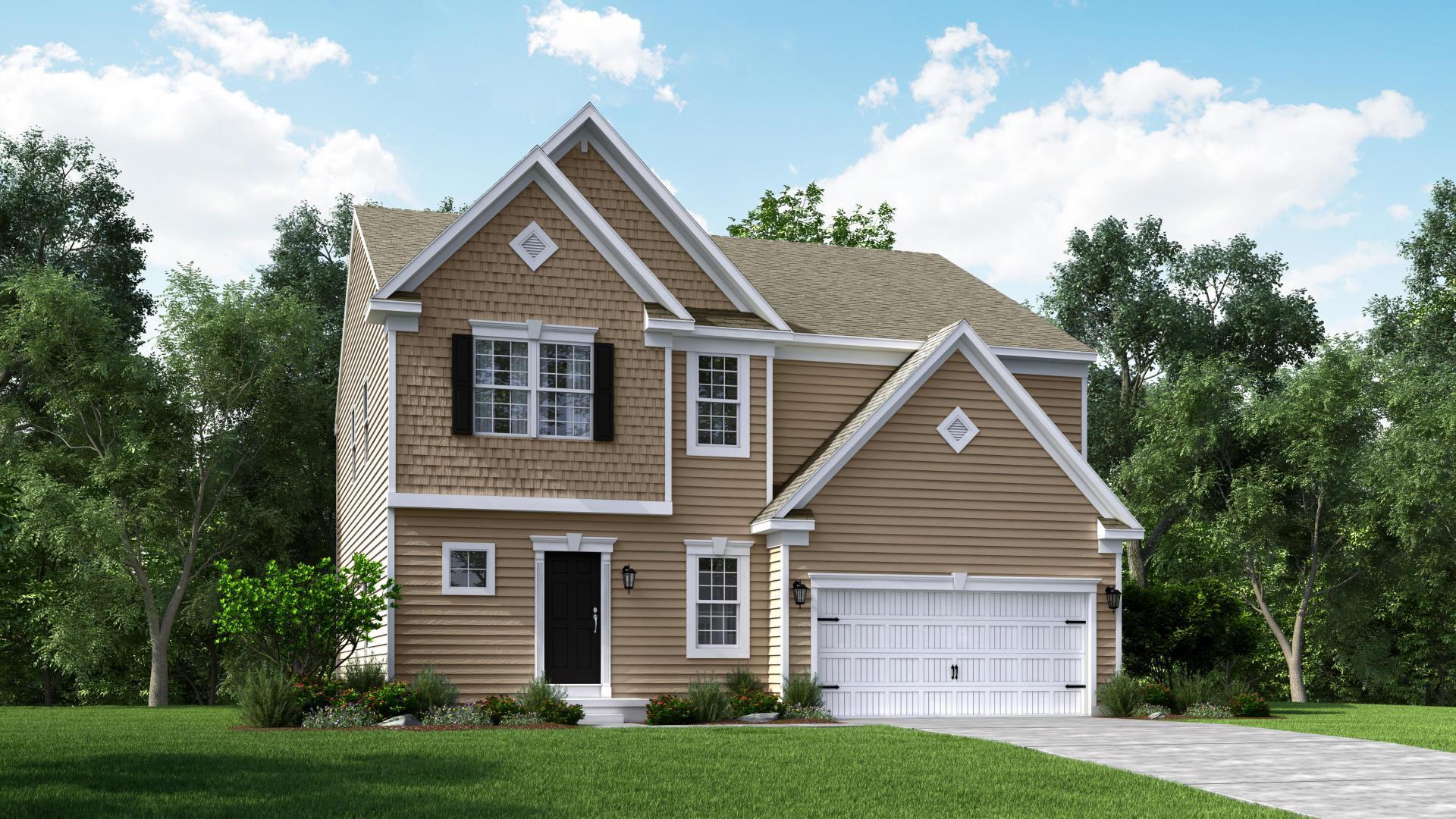 Exterior:Elevation: C Siding Facade with Opt Garage Doors