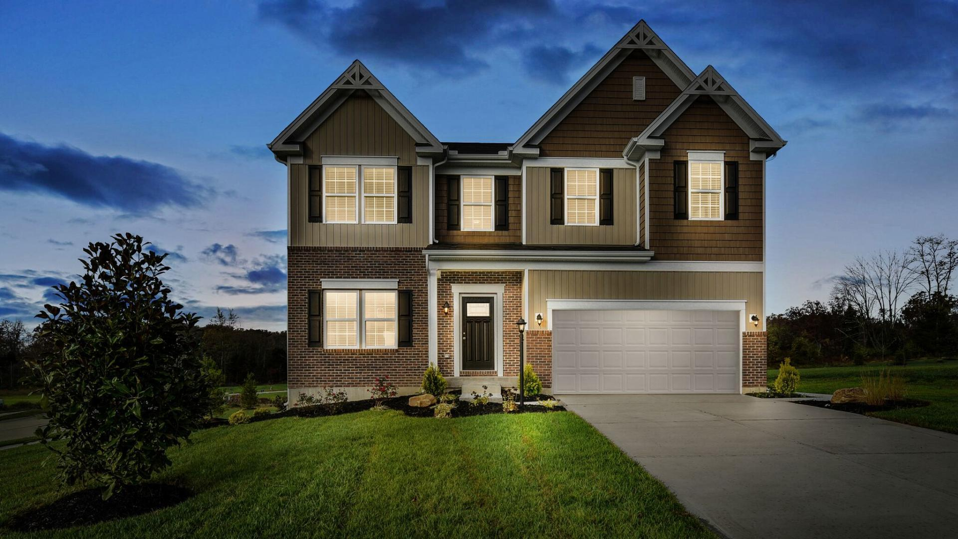 Exterior featured in the Birmingham By Maronda Homes in Columbus, OH