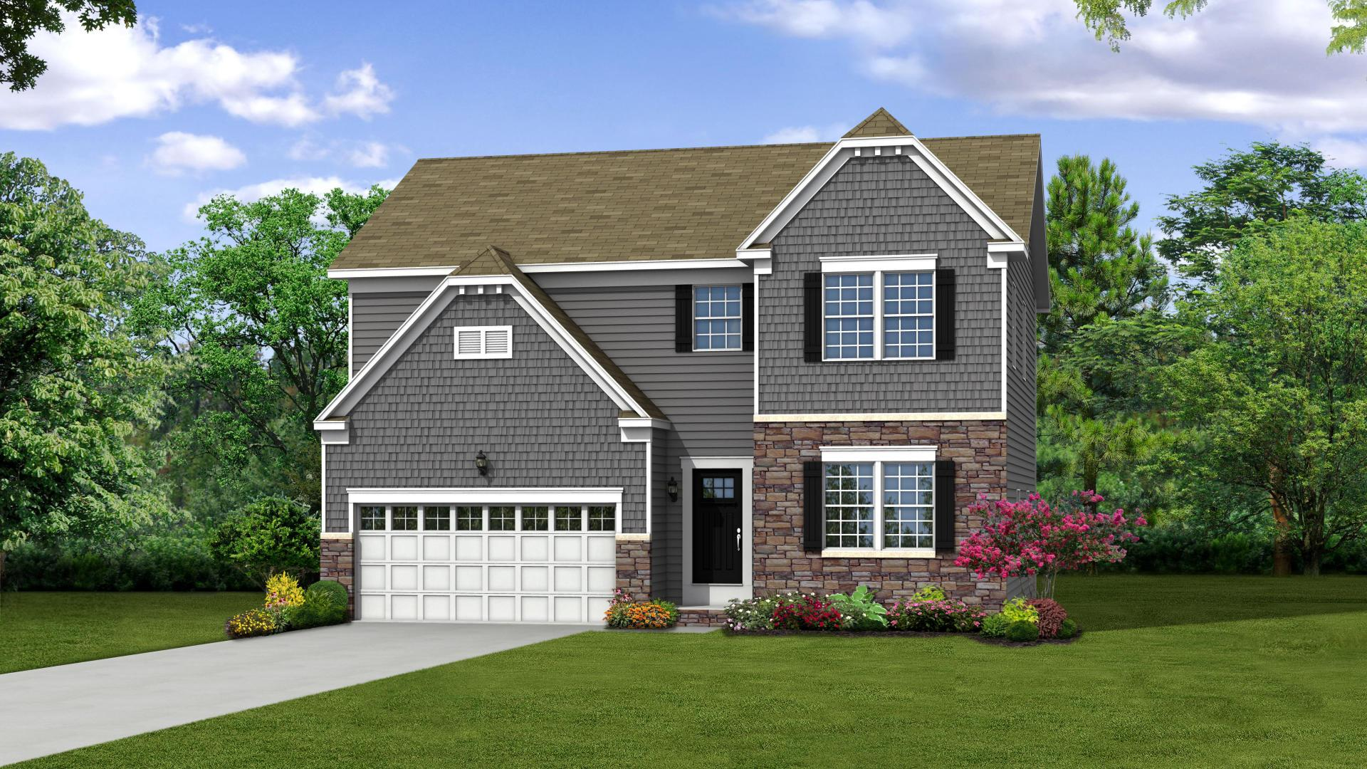 Exterior featured in the Newbury By Maronda Homes in Columbus, OH