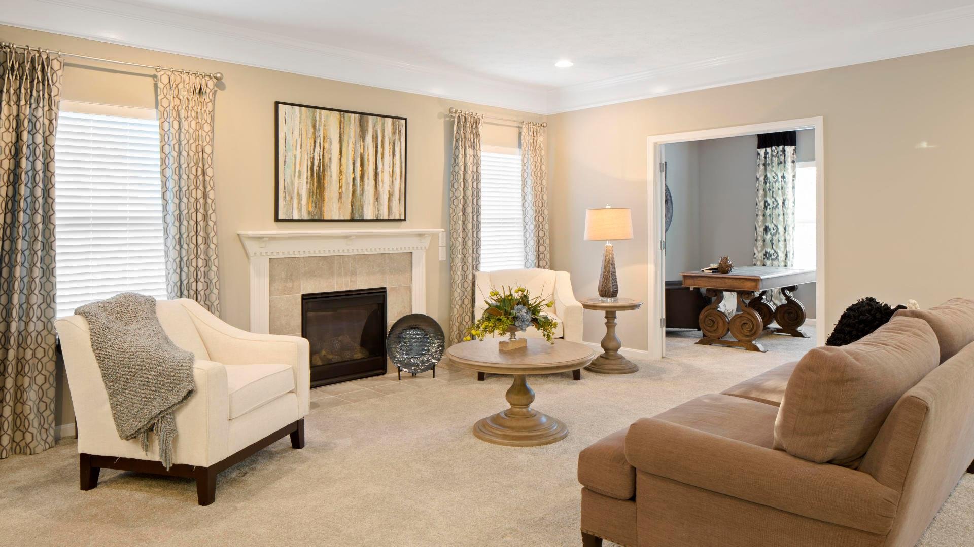 Living Area featured in the Newbury By Maronda Homes in Columbus, OH