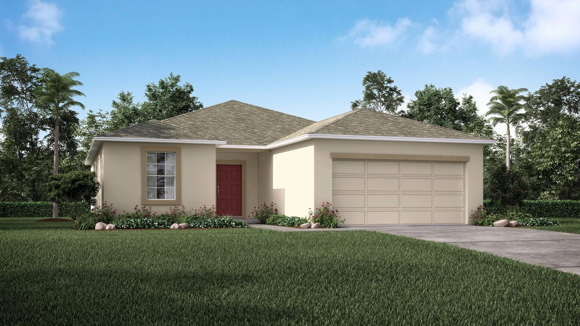 Exterior featured in the Cypress By Maronda Homes in Daytona Beach, FL