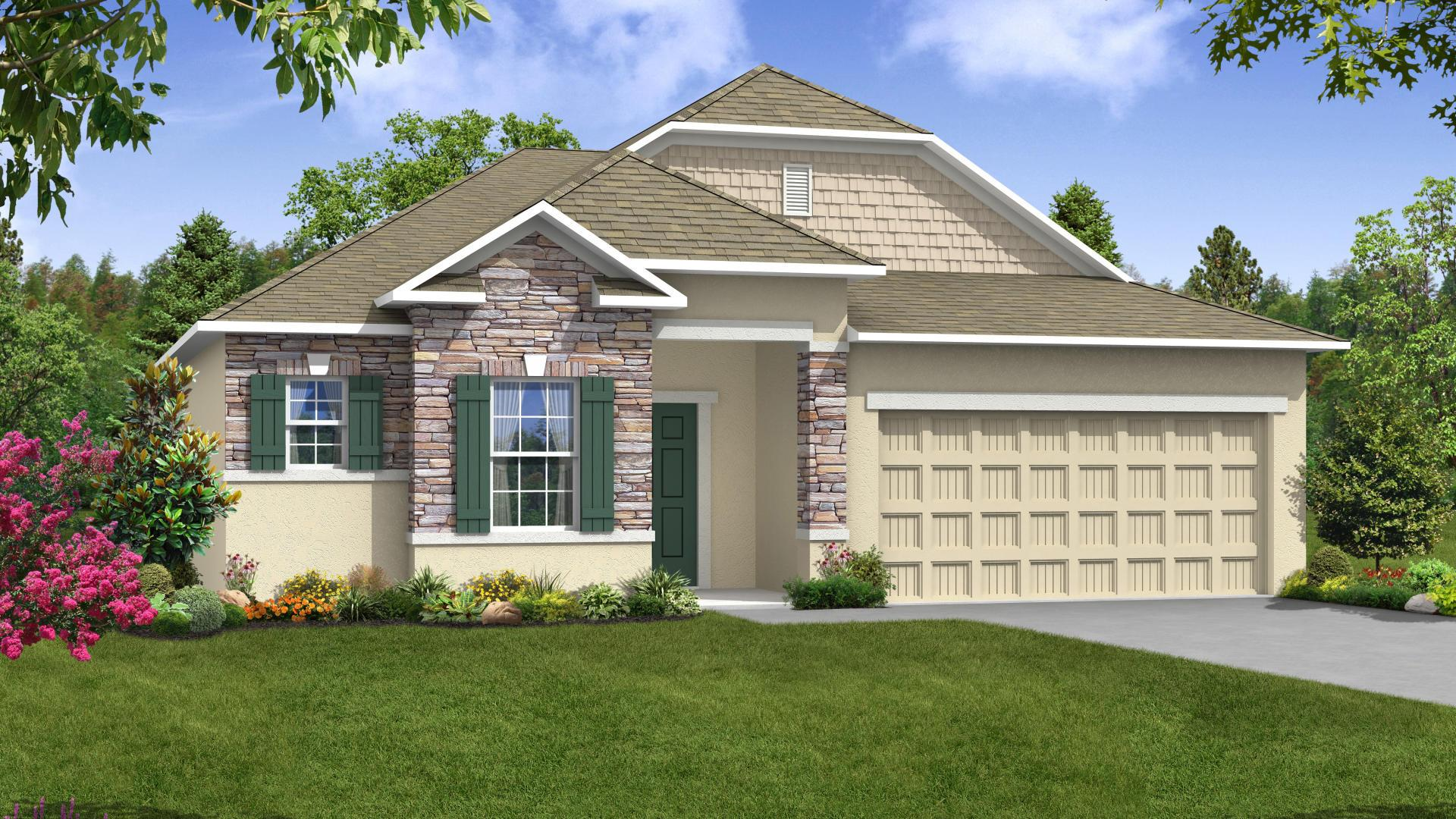 Exterior featured in the Drexel By Maronda Homes in Melbourne, FL