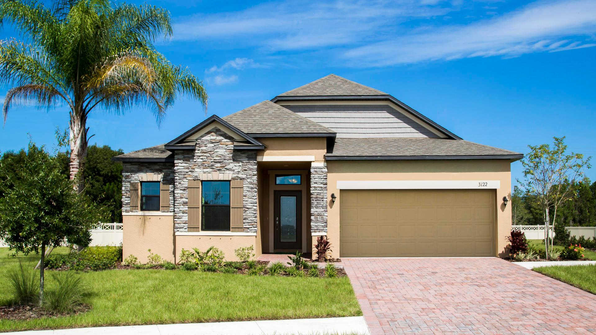 Exterior featured in the Drexel By Maronda Homes in Daytona Beach, FL