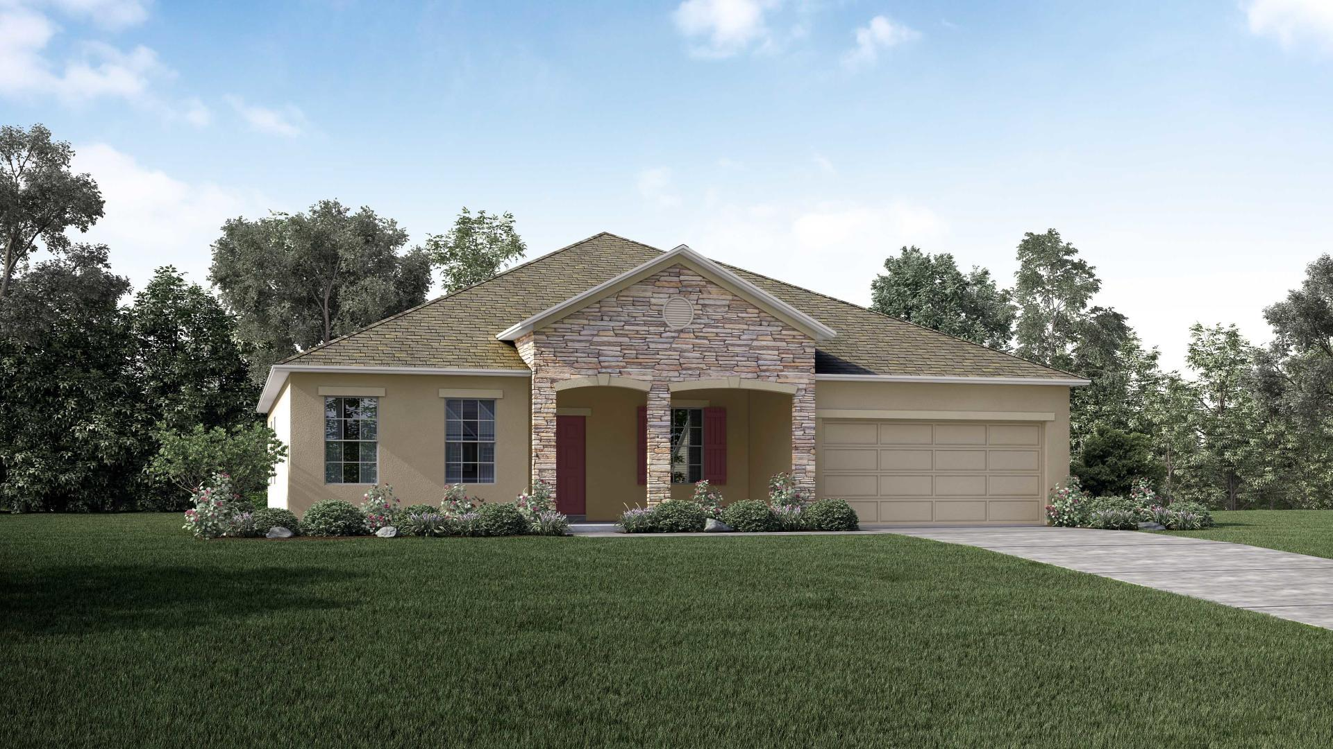 Exterior featured in the Wilmington By Maronda Homes in Daytona Beach, FL