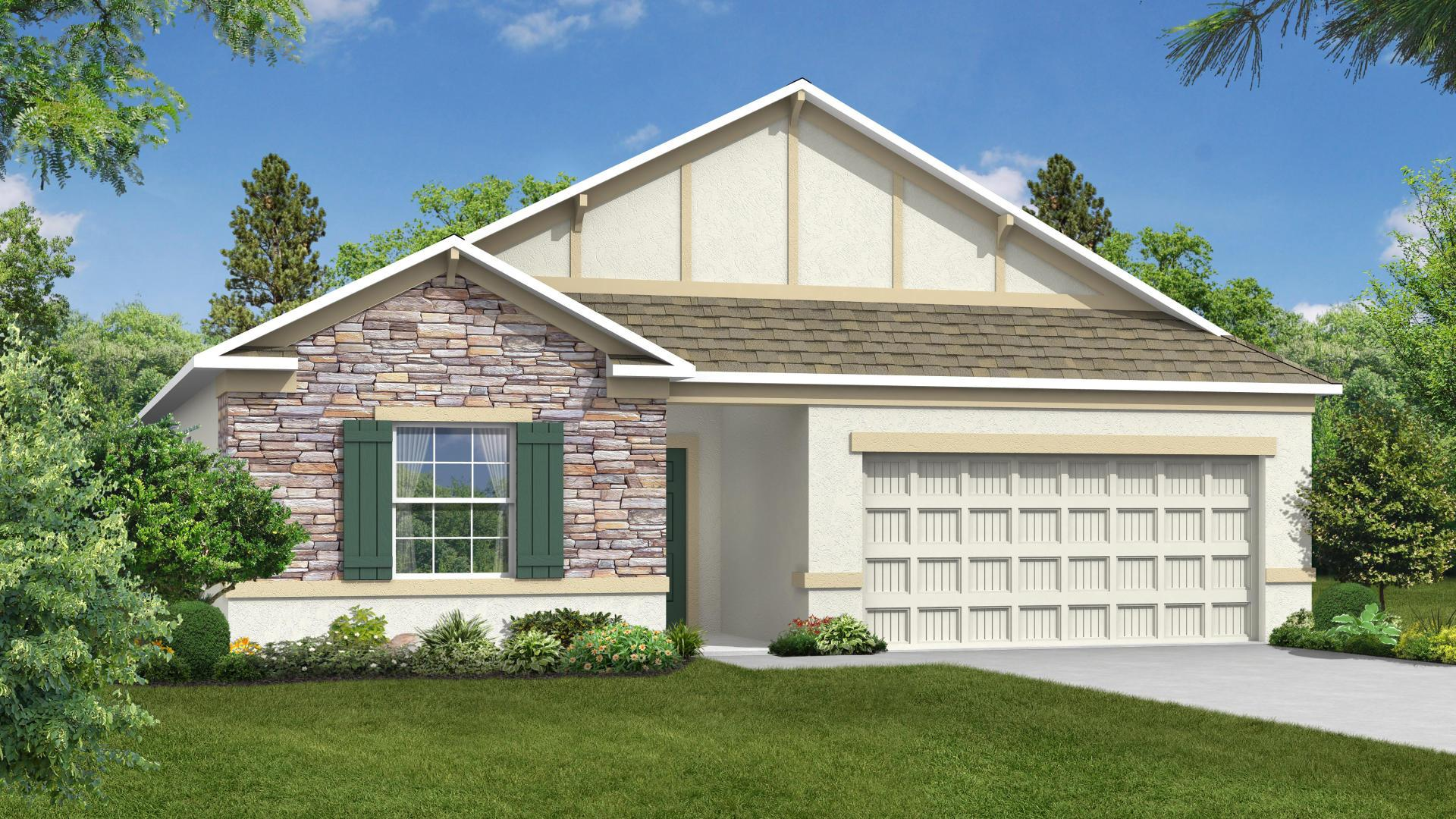 Exterior featured in the Memphis By Maronda Homes in Gainesville, FL