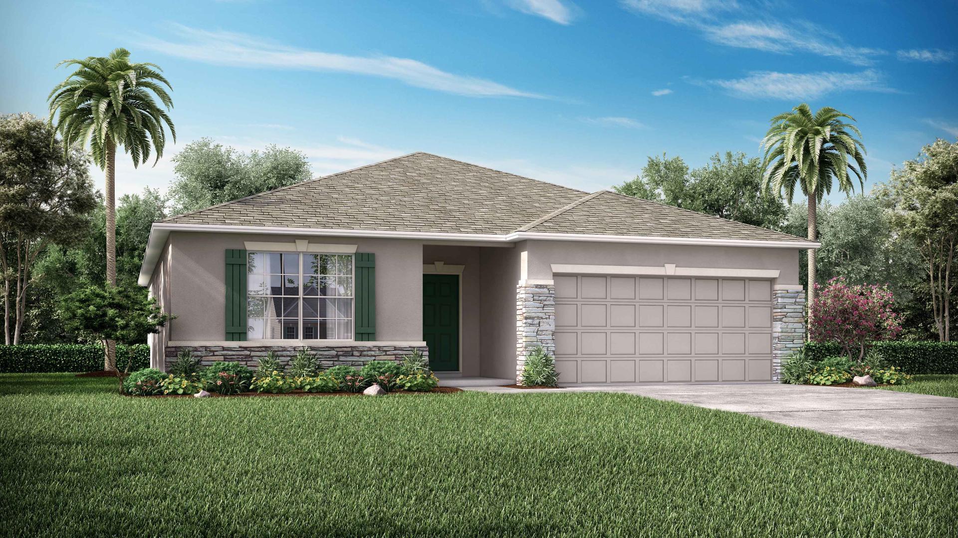 Exterior featured in the Arlington By Maronda Homes in Daytona Beach, FL