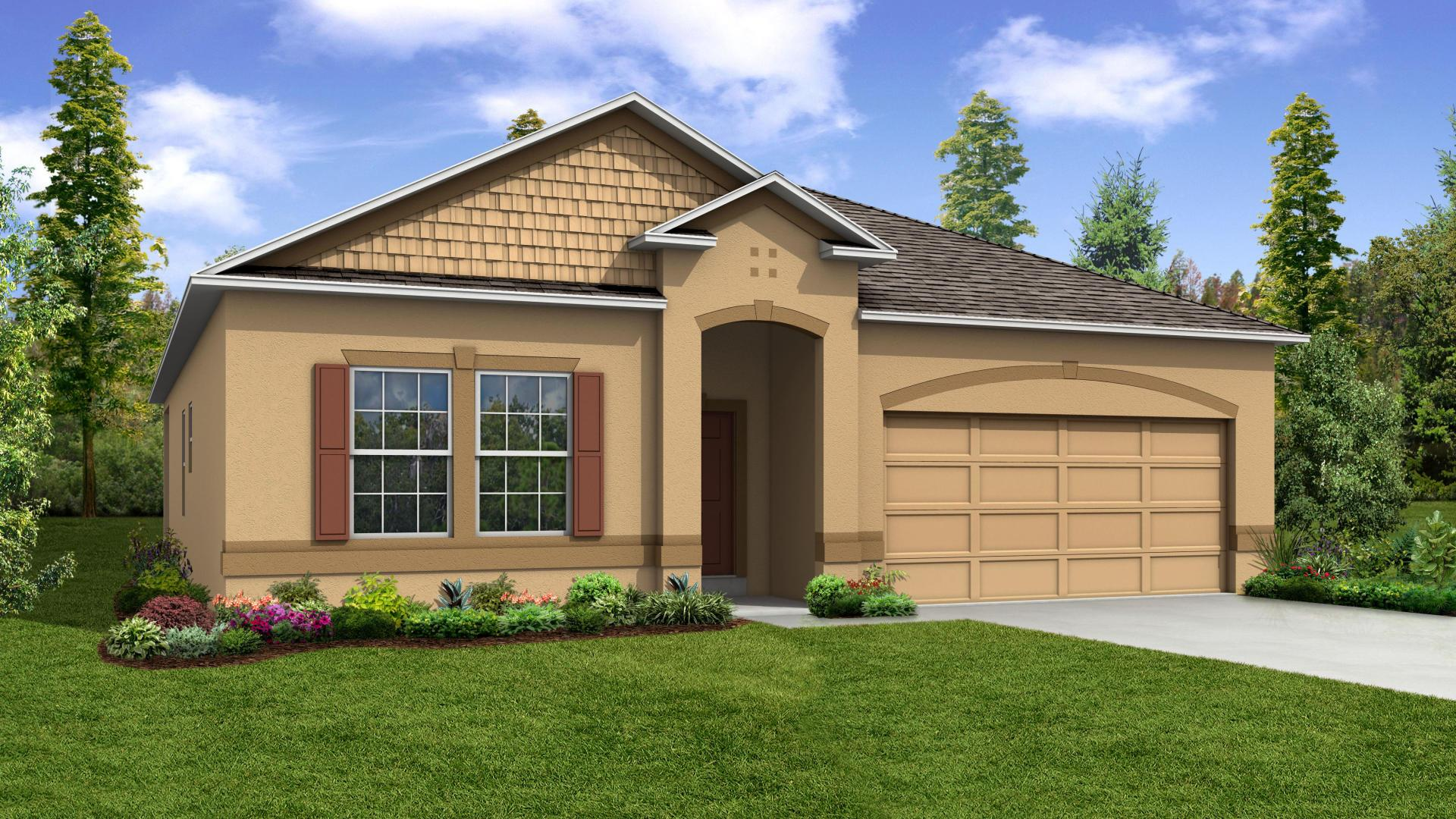 Exterior featured in the Hampton By Maronda Homes in Punta Gorda, FL