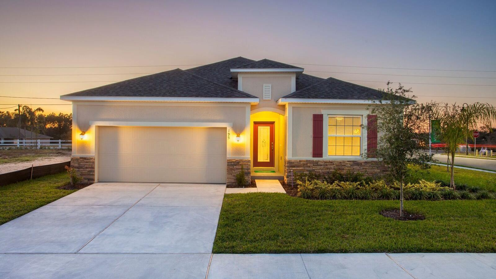 Exterior featured in the Miramar By Maronda Homes in Lakeland-Winter Haven, FL