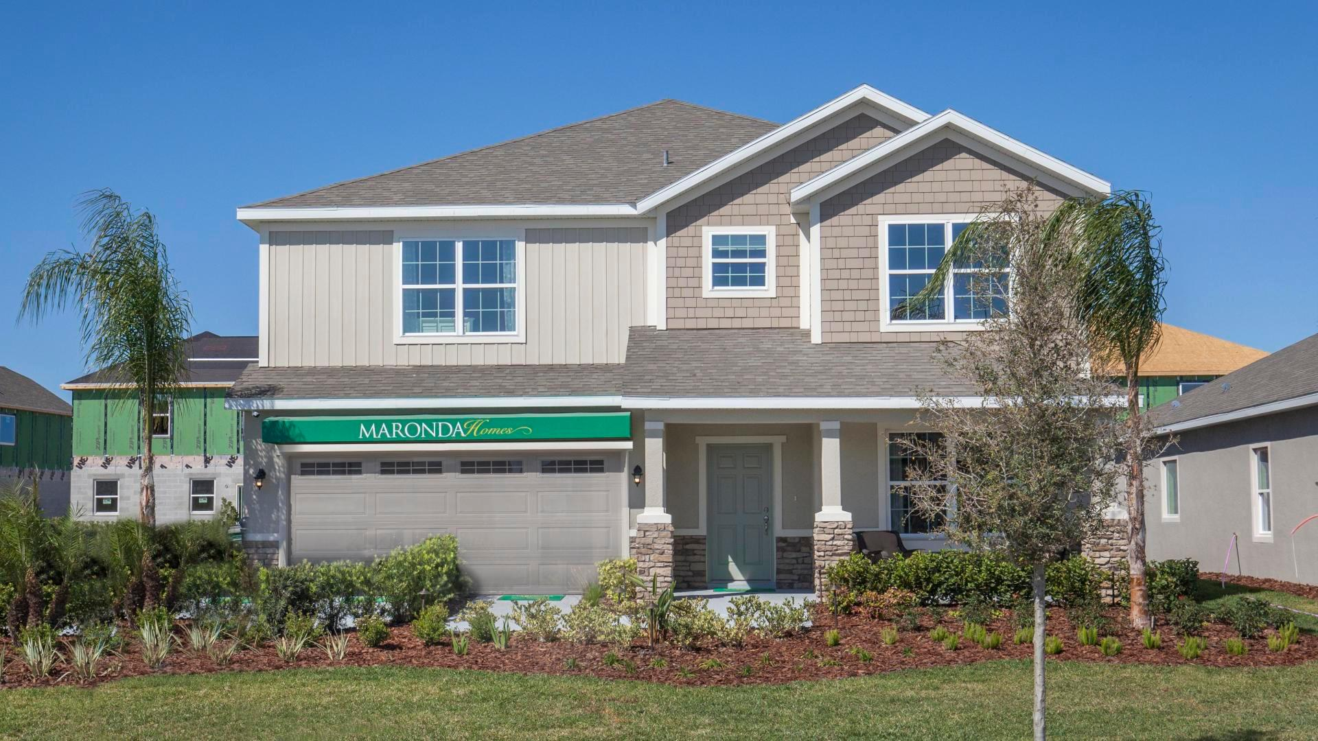 Exterior featured in the Carlisle By Maronda Homes in Daytona Beach, FL