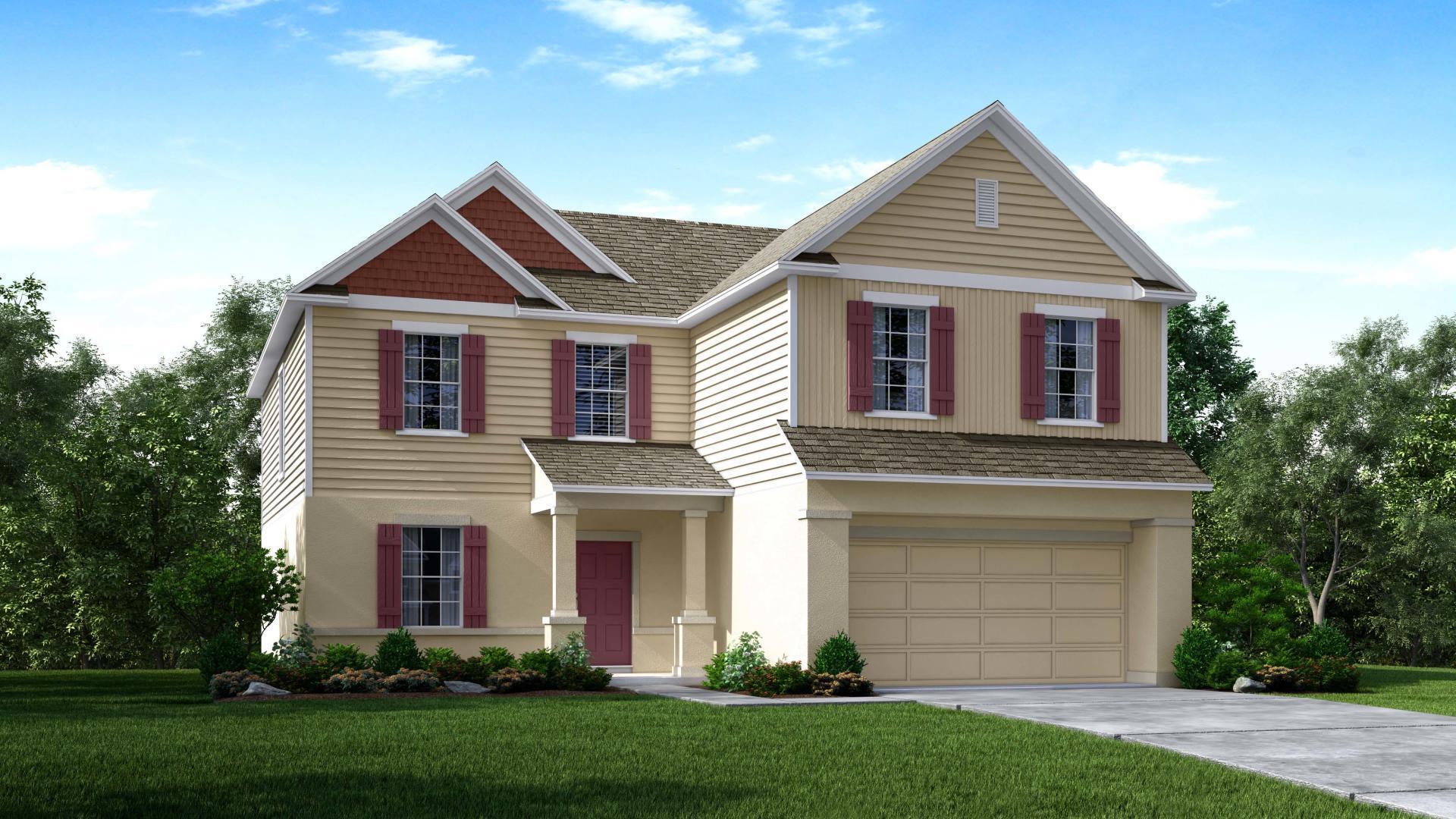 Exterior featured in the Baybury By Maronda Homes in Daytona Beach, FL