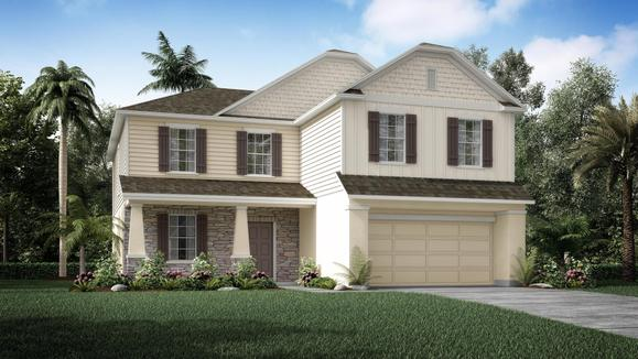 Exterior:Elevation: D Opt. Stone Front