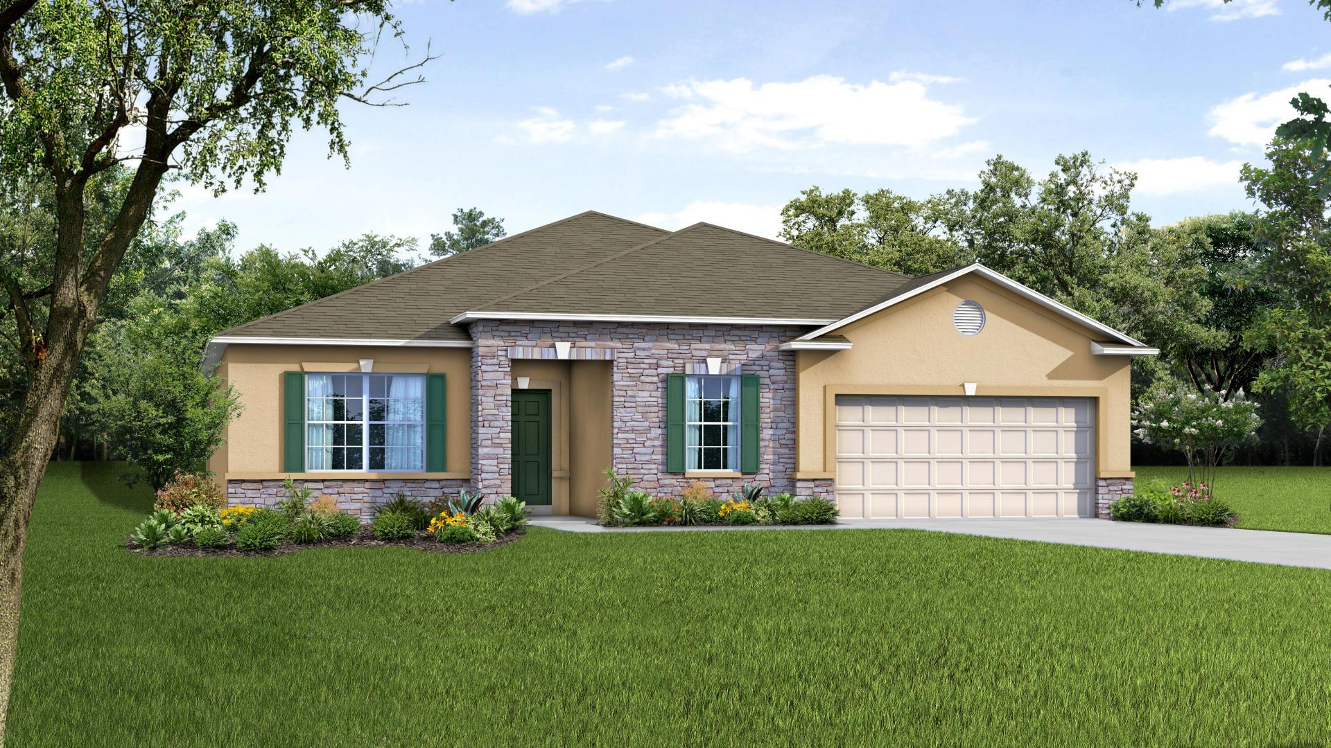 Exterior featured in the Melody By Maronda Homes in Gainesville, FL