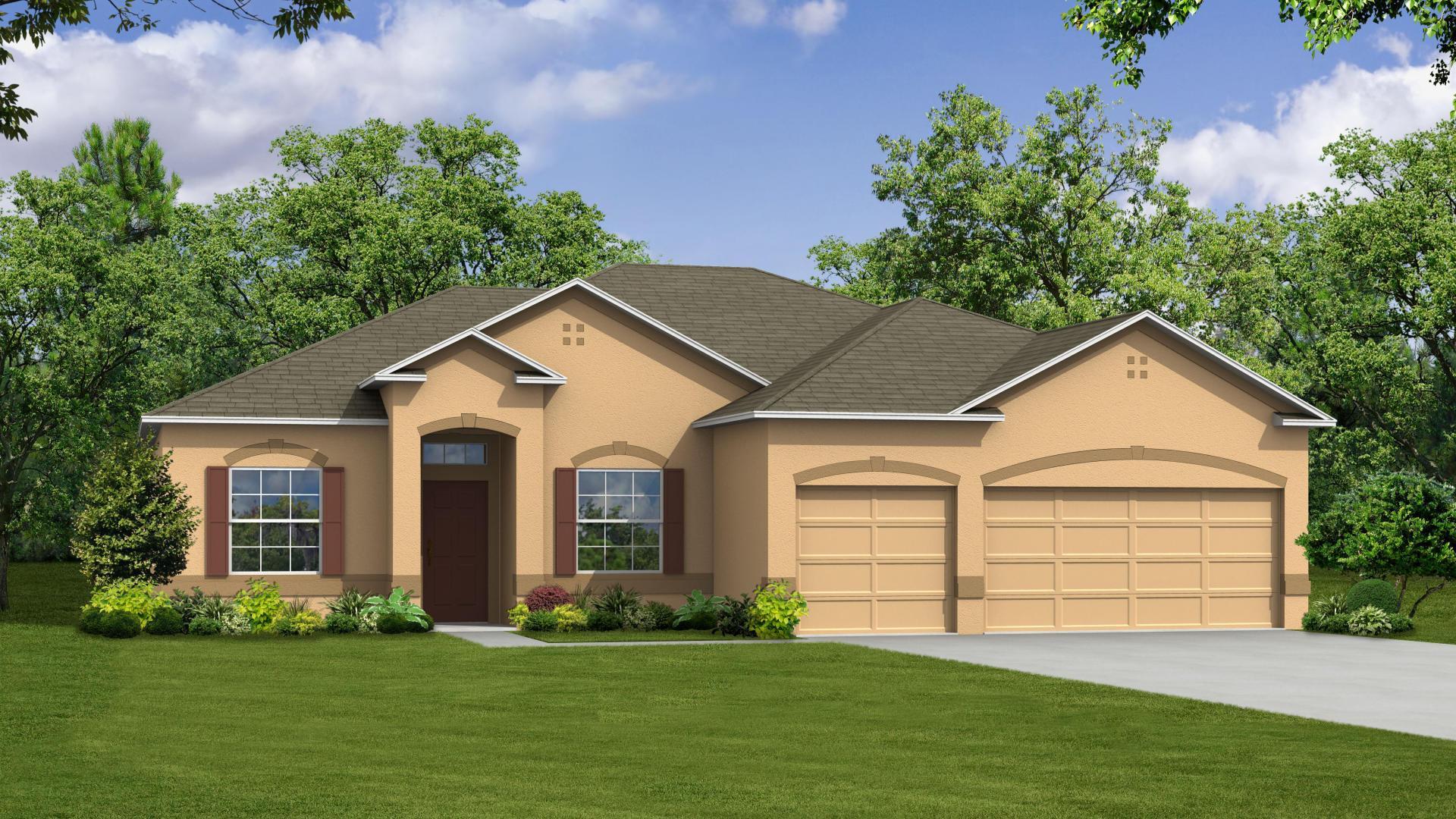 Exterior featured in the Sierra By Maronda Homes in Daytona Beach, FL