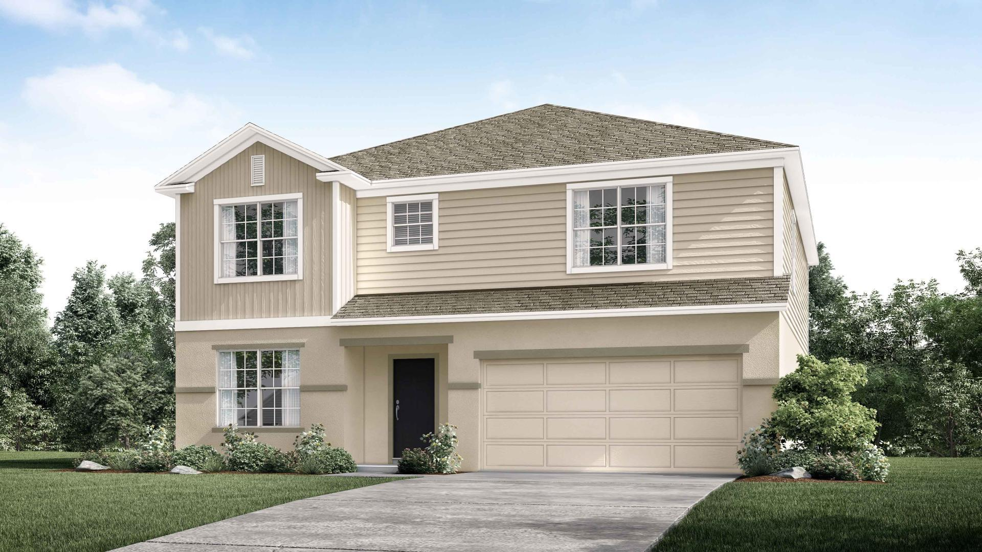 Exterior featured in the Carlisle By Maronda Homes in Tampa-St. Petersburg, FL