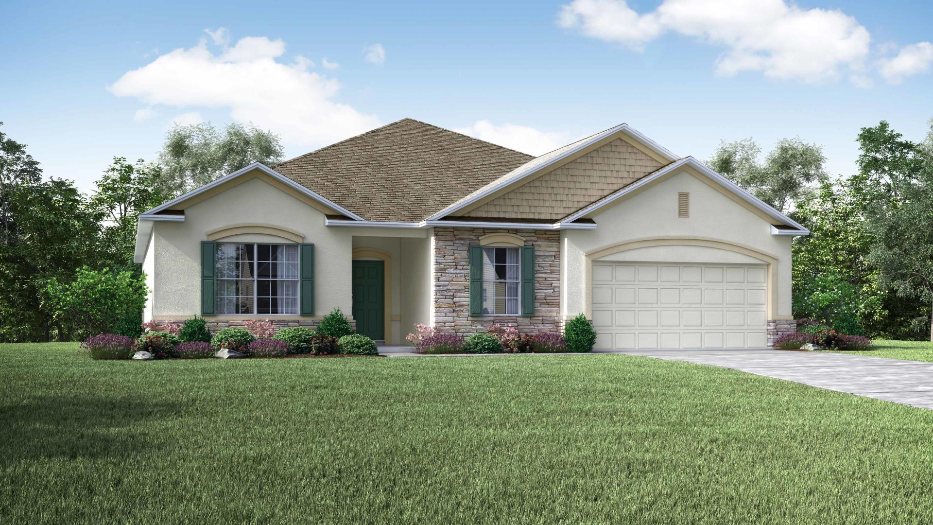 Exterior featured in the Melody By Maronda Homes in Daytona Beach, FL