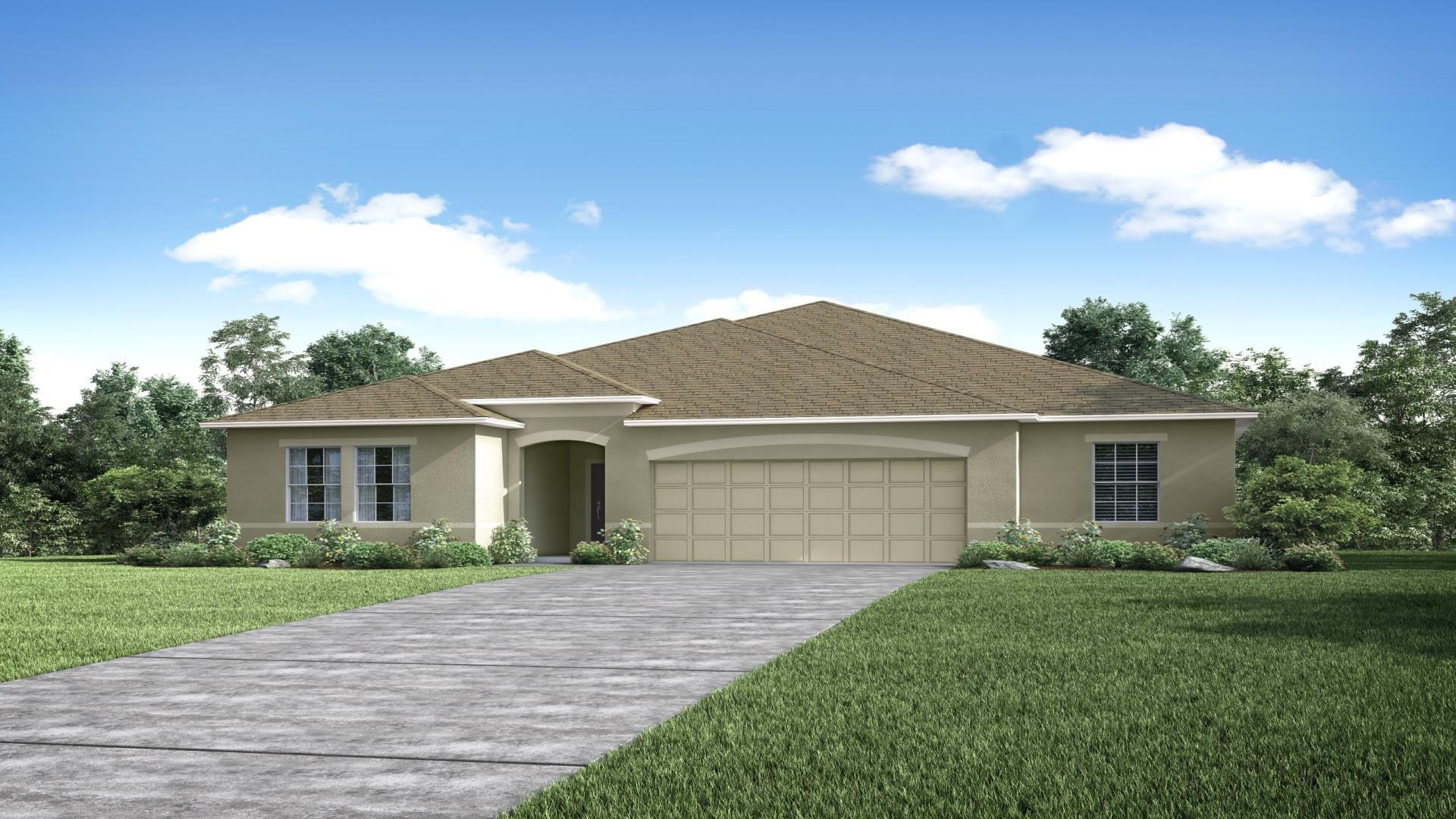 Exterior featured in the Huntington By Maronda Homes in Daytona Beach, FL