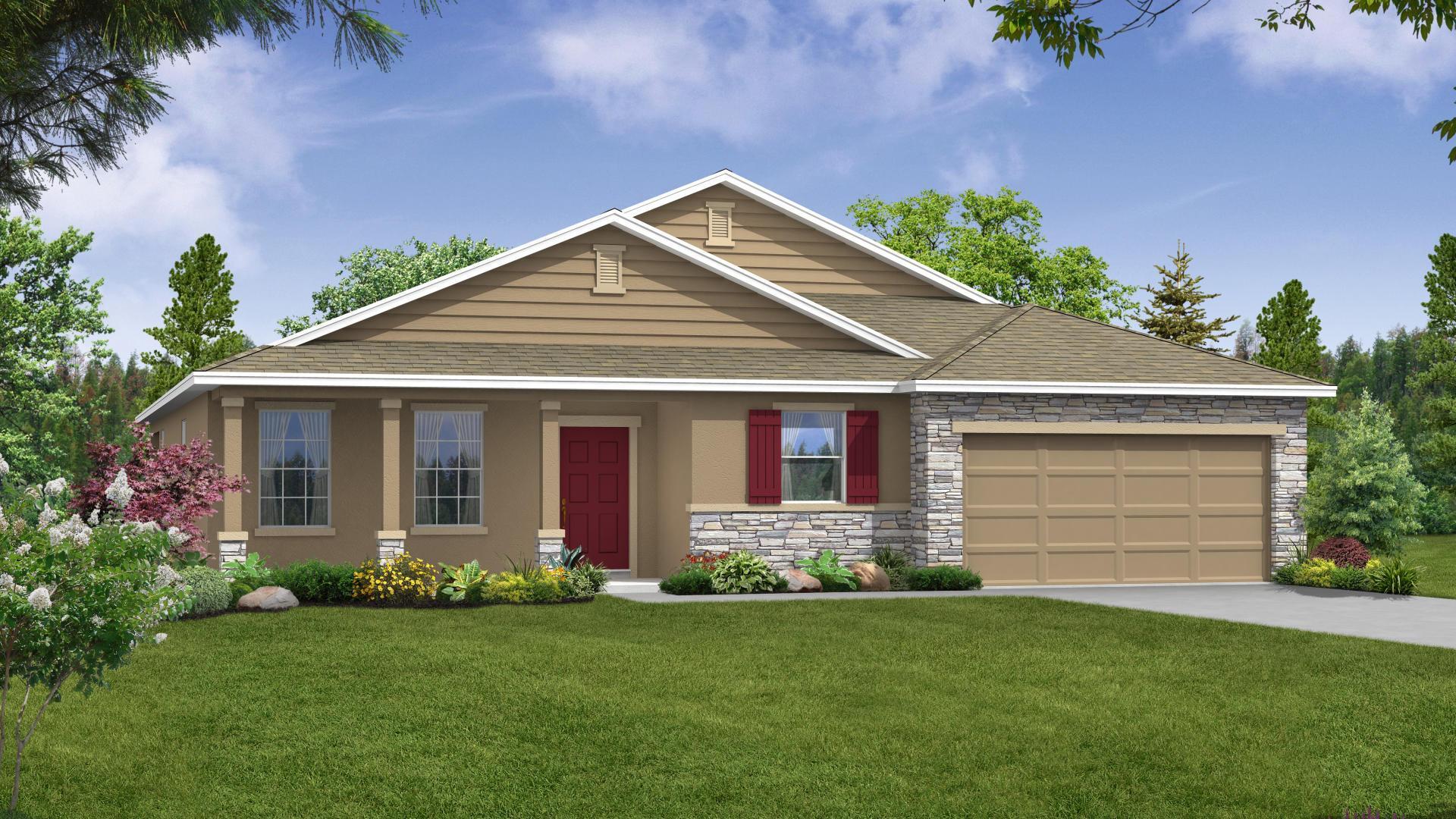 Exterior featured in the Harmony By Maronda Homes in Daytona Beach, FL
