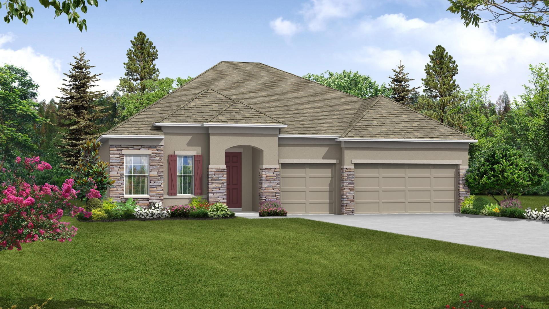 Exterior featured in the Venice By Maronda Homes in Daytona Beach, FL