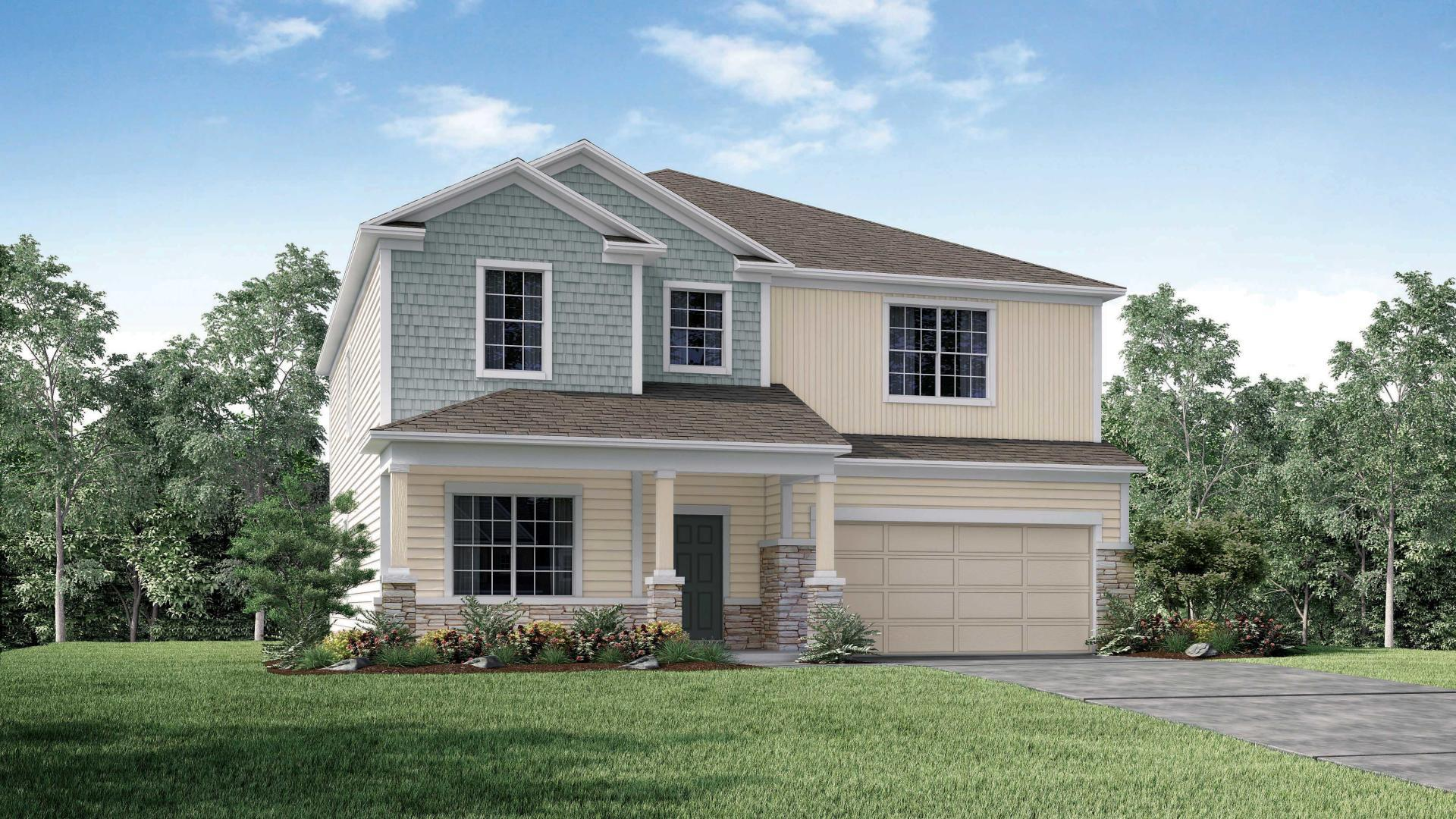 Exterior featured in the Carlisle By Maronda Homes in Gainesville, FL