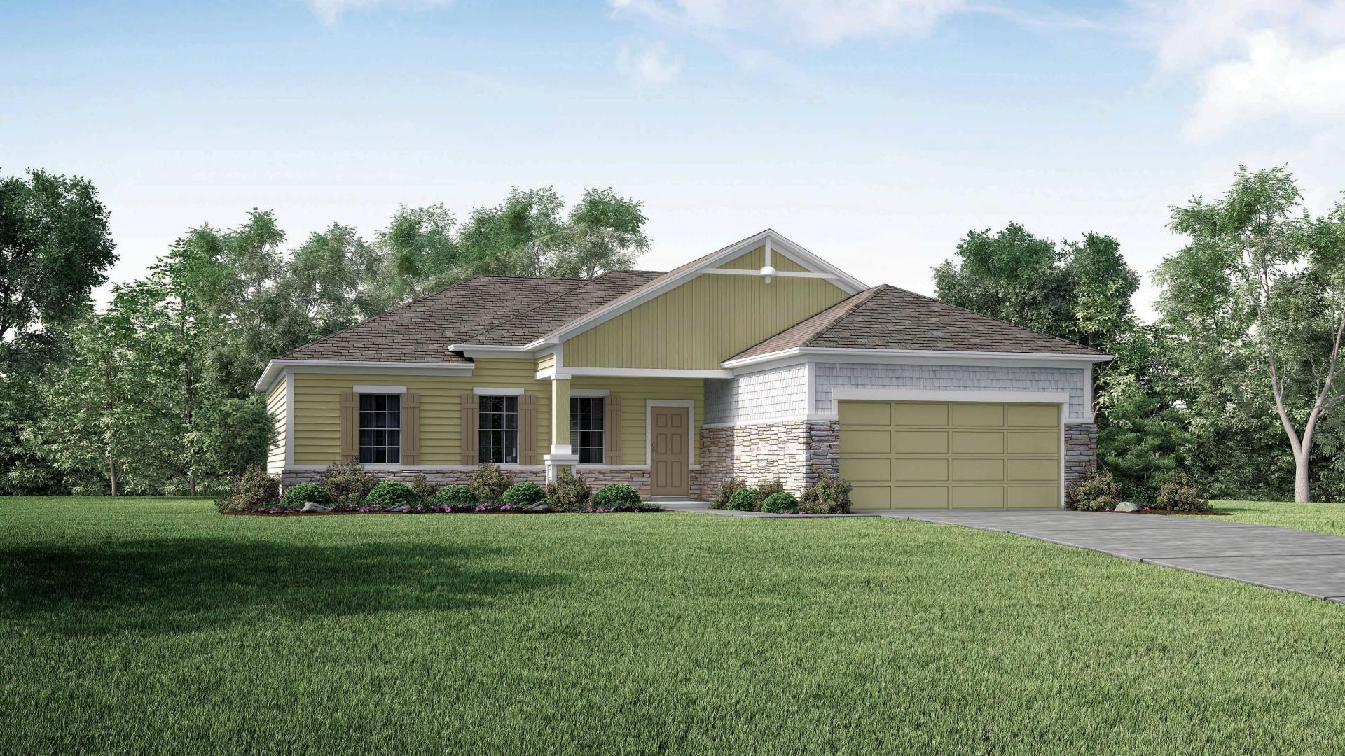 Exterior featured in the Fairfield By Maronda Homes in Jacksonville-St. Augustine, GA
