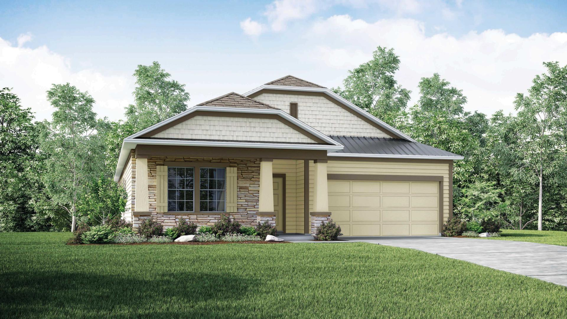 Exterior featured in the Hampton By Maronda Homes in Jacksonville-St. Augustine, GA