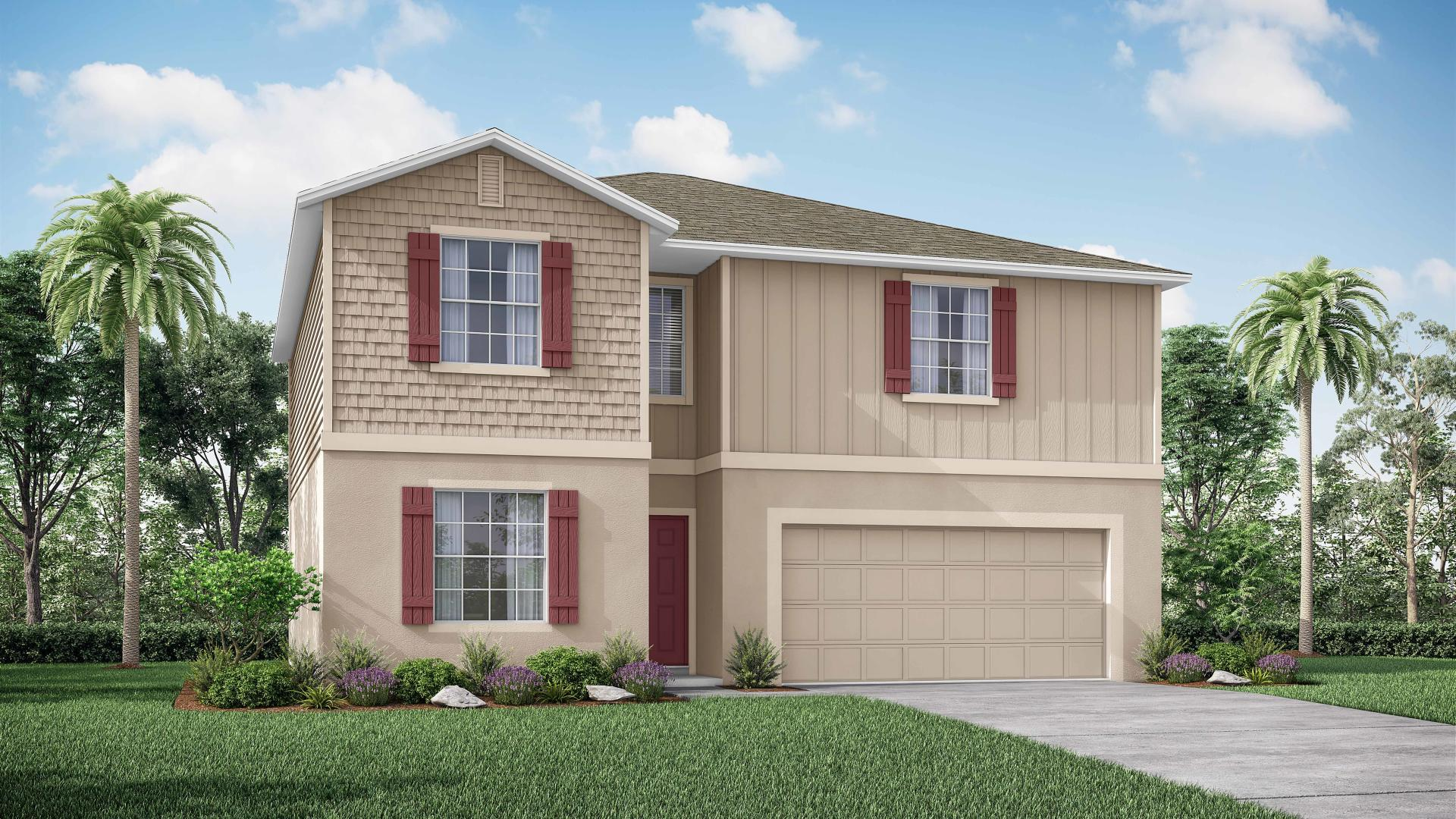 Exterior featured in the Sycamore By Maronda Homes in Daytona Beach, FL