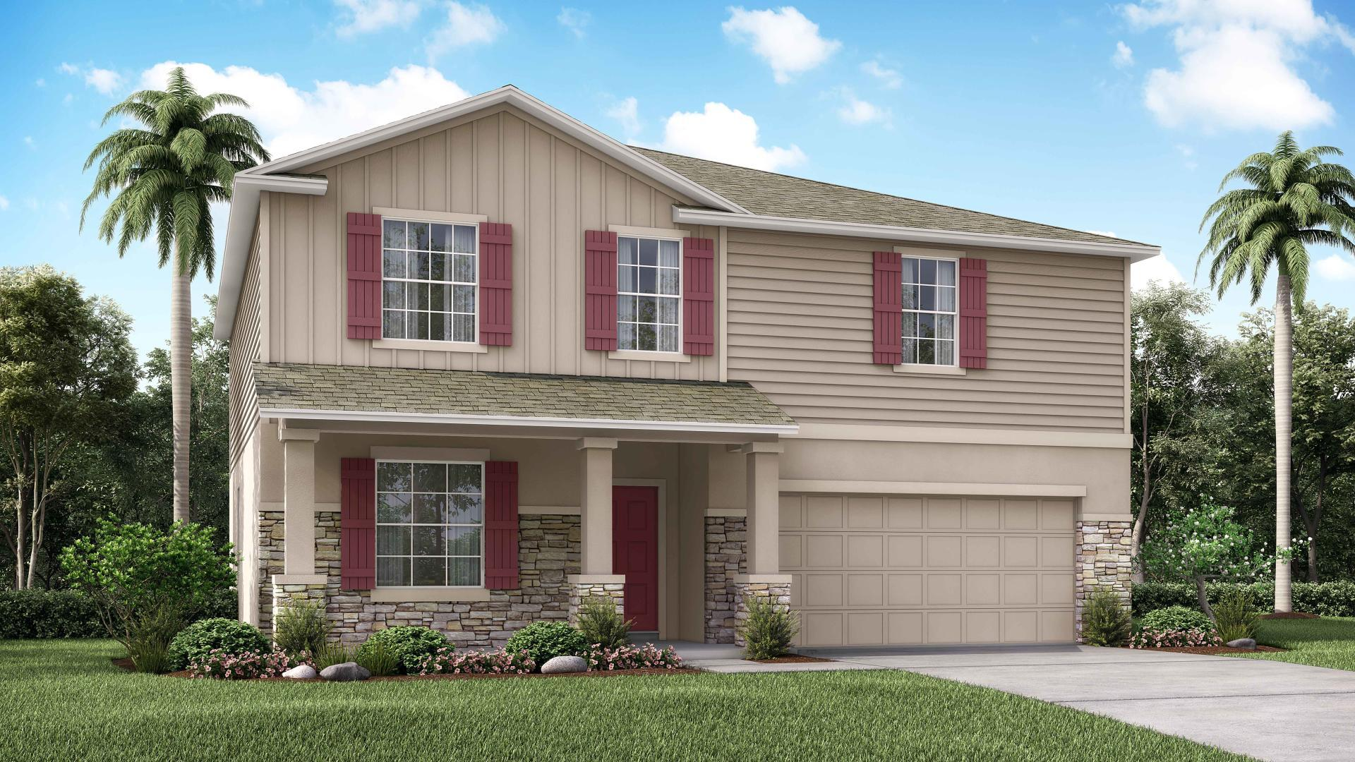 Exterior featured in the Melbourne By Maronda Homes in Lakeland-Winter Haven, FL