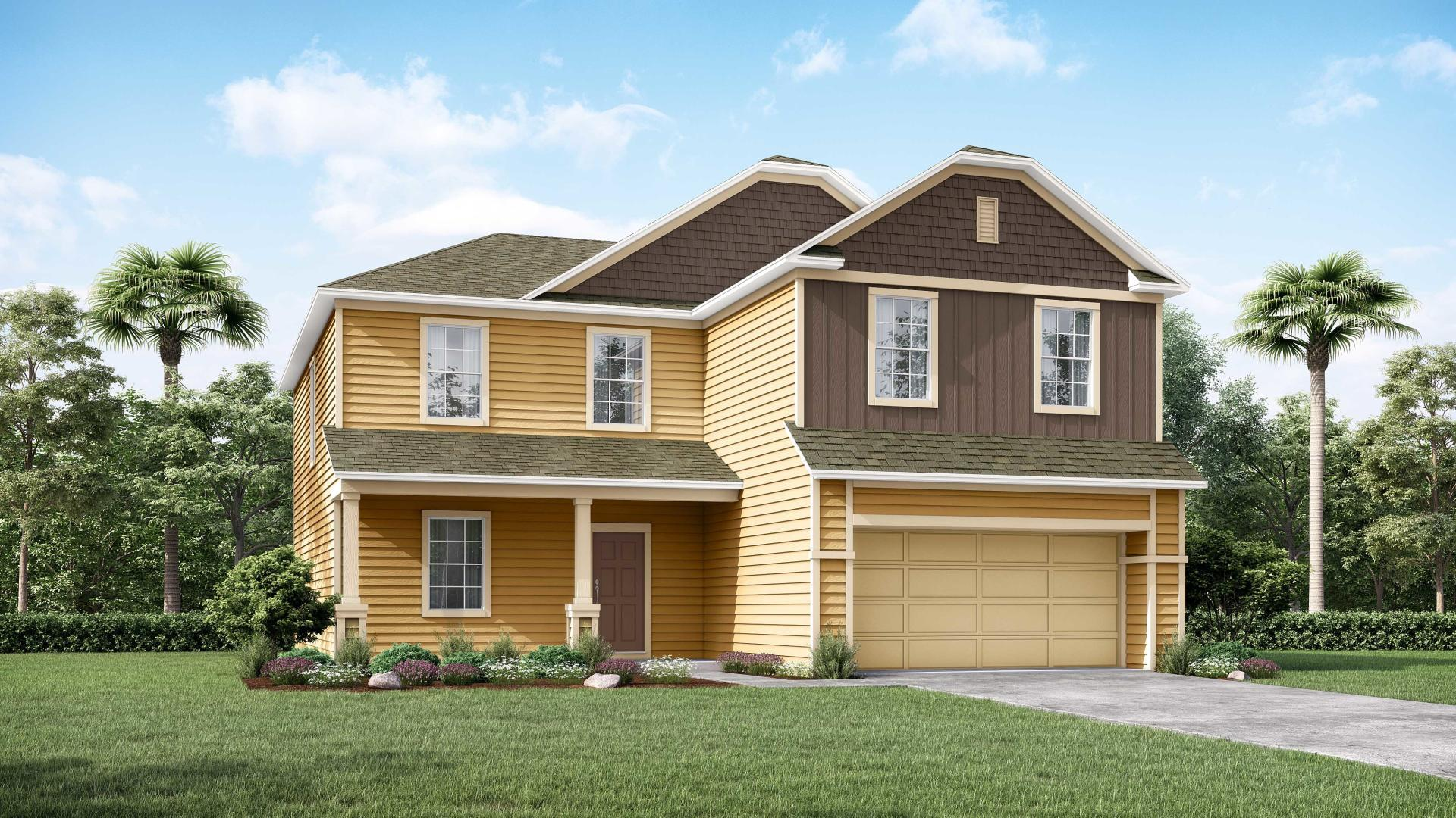 Exterior featured in the Baybury By Maronda Homes in Jacksonville-St. Augustine, GA