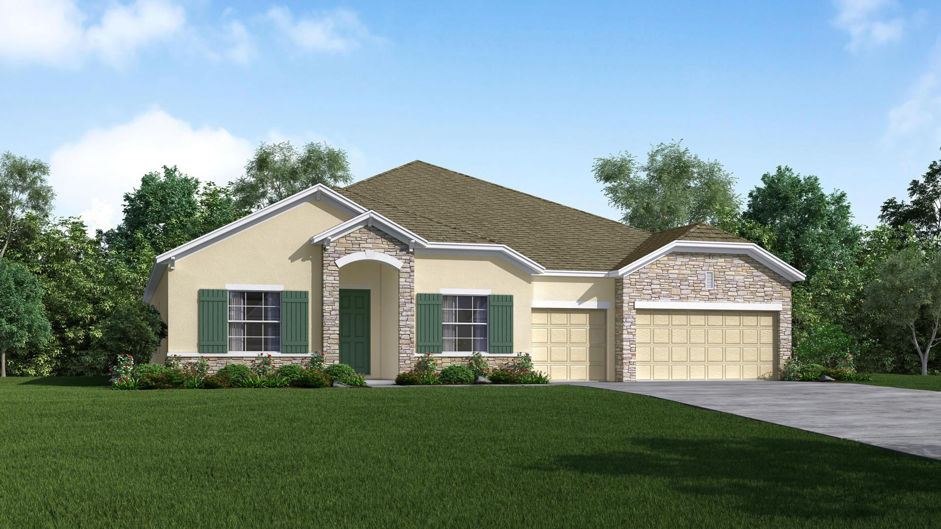 Exterior featured in the Livorno By Maronda Homes in Melbourne, FL
