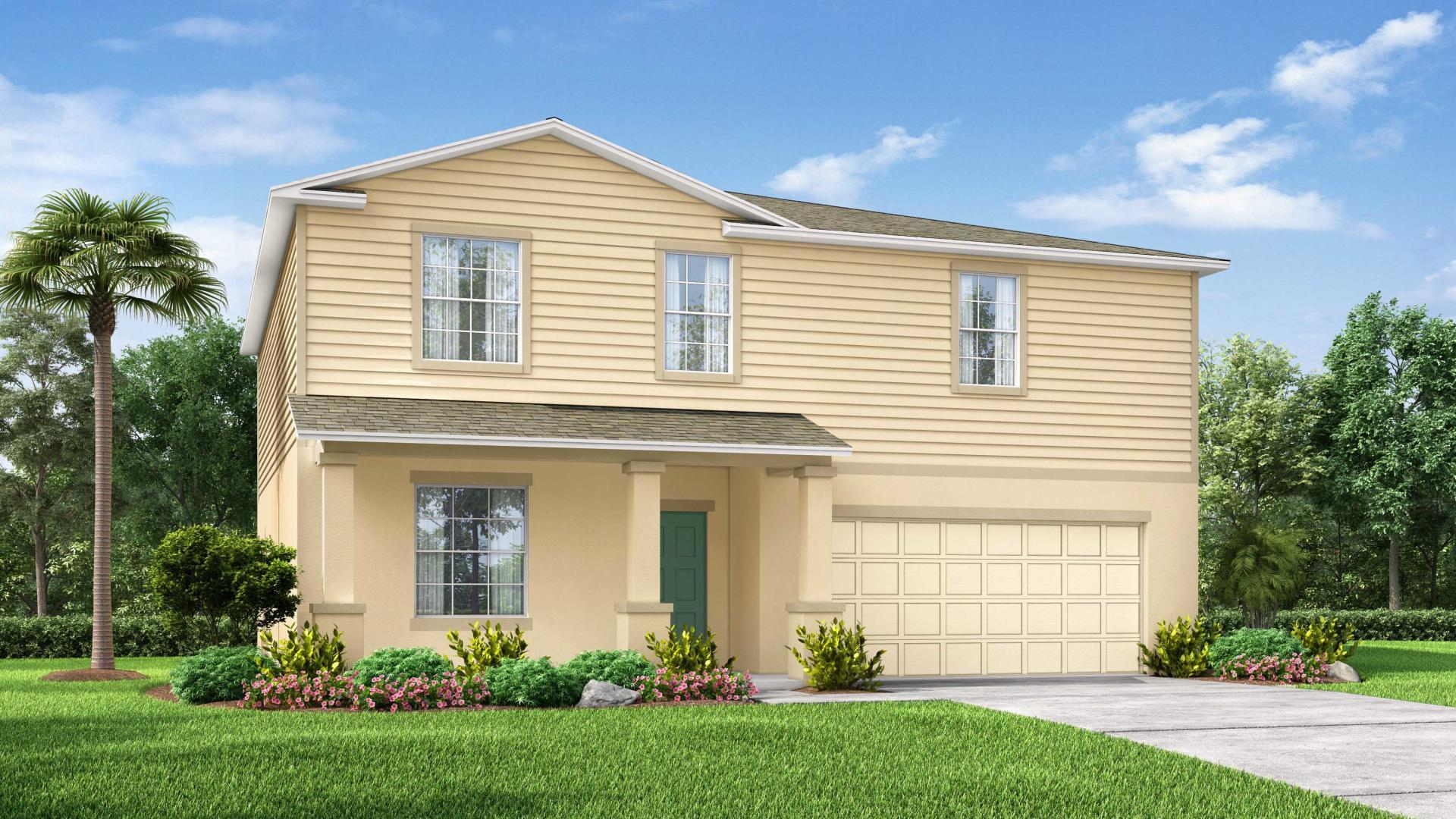 Exterior featured in the Sequoia By Maronda Homes in Daytona Beach, FL