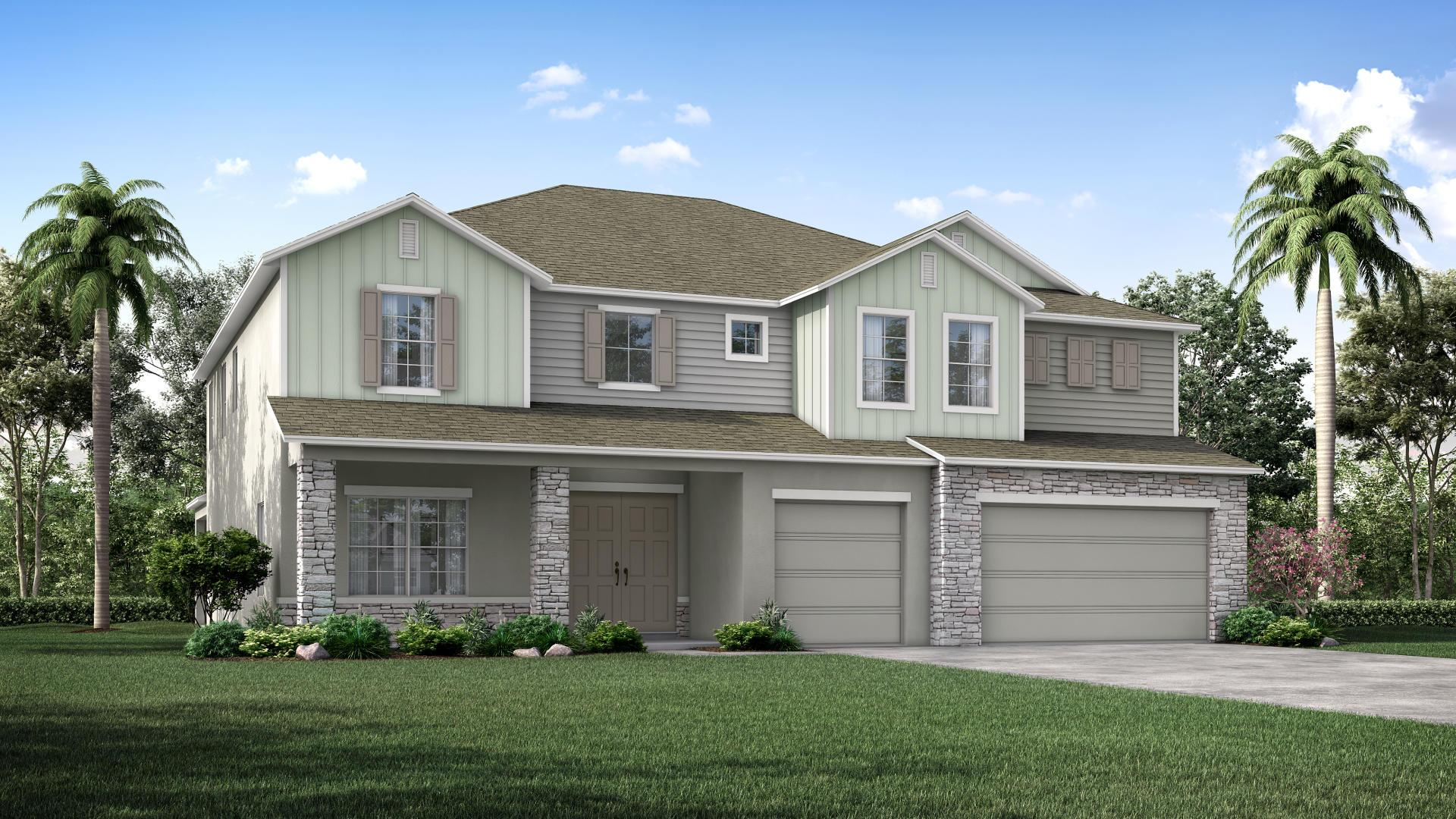 Exterior featured in the Verona By Maronda Homes in Melbourne, FL
