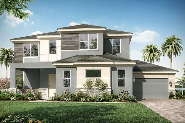 Exterior:Hawthorne - Contemporary Elevation