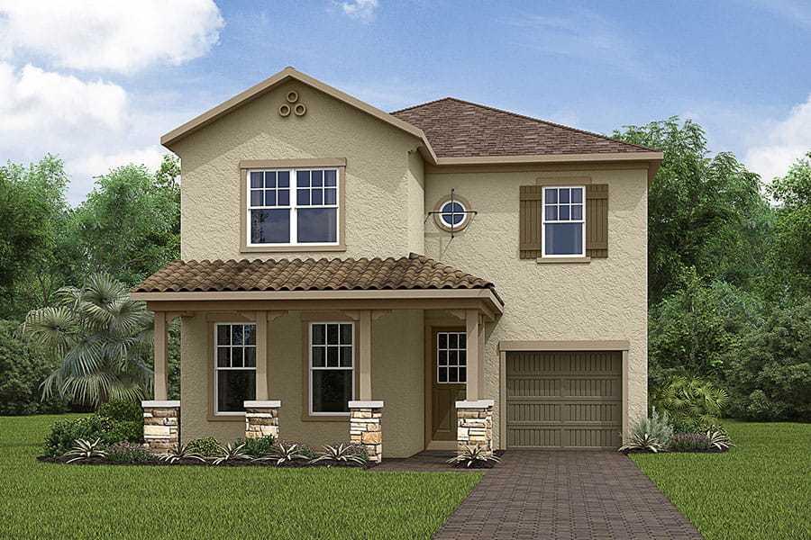 Exterior featured in the Laguna By Mattamy Homes in Orlando, FL