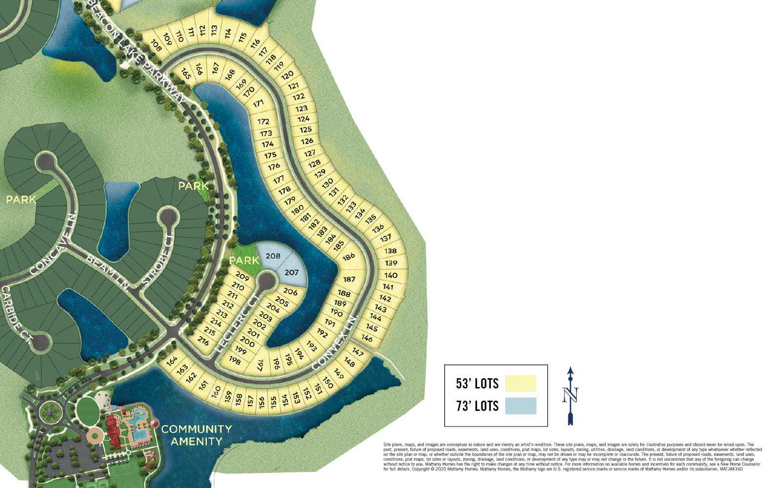'Beacon Lake' by Mattamy Homes-Jacksonville in Jacksonville-St. Augustine