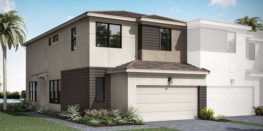 Exterior featured in the Ellery By Mattamy Homes in Palm Beach County, FL