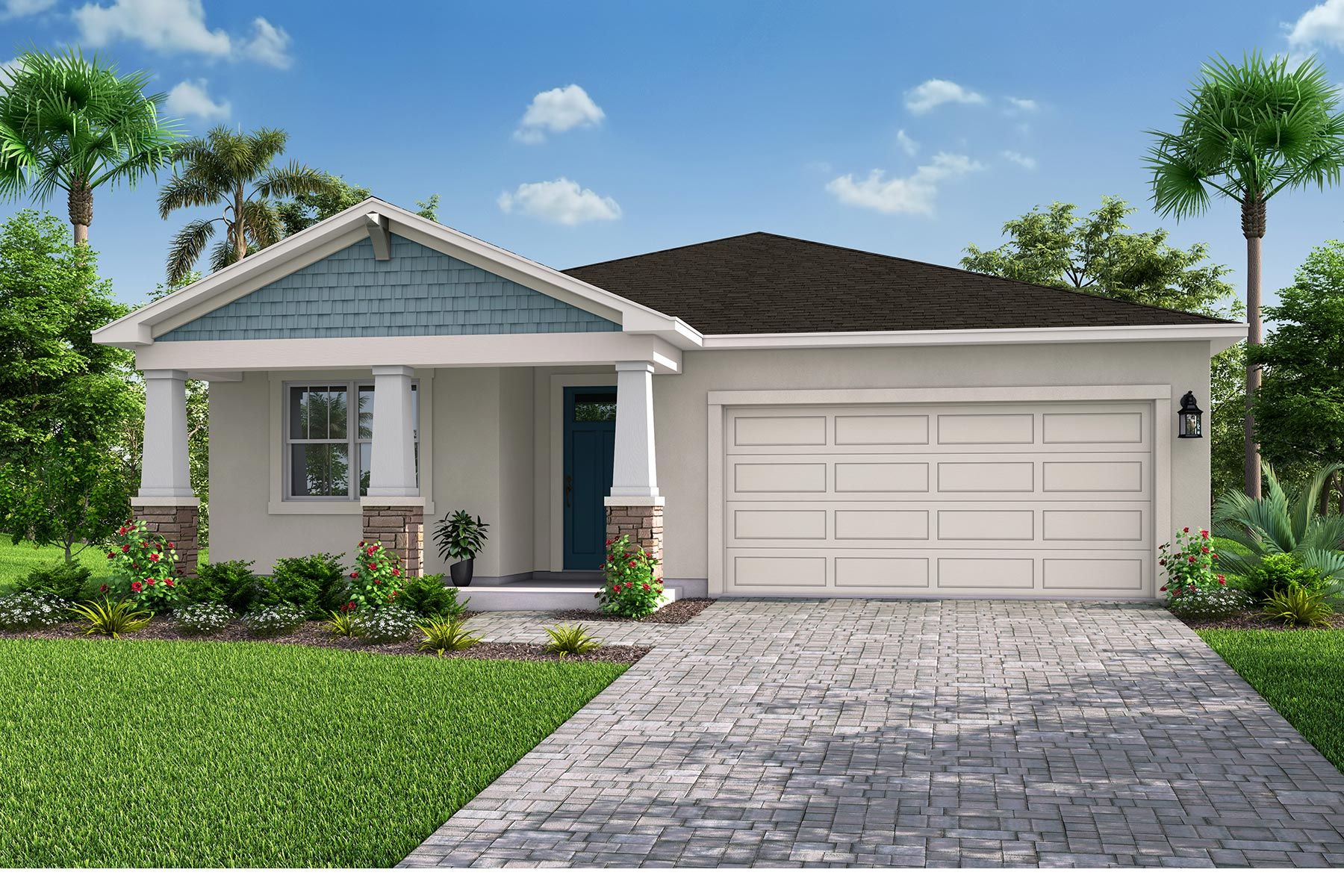 Exterior featured in the Amelia II By Mattamy Homes in Tampa-St. Petersburg, FL