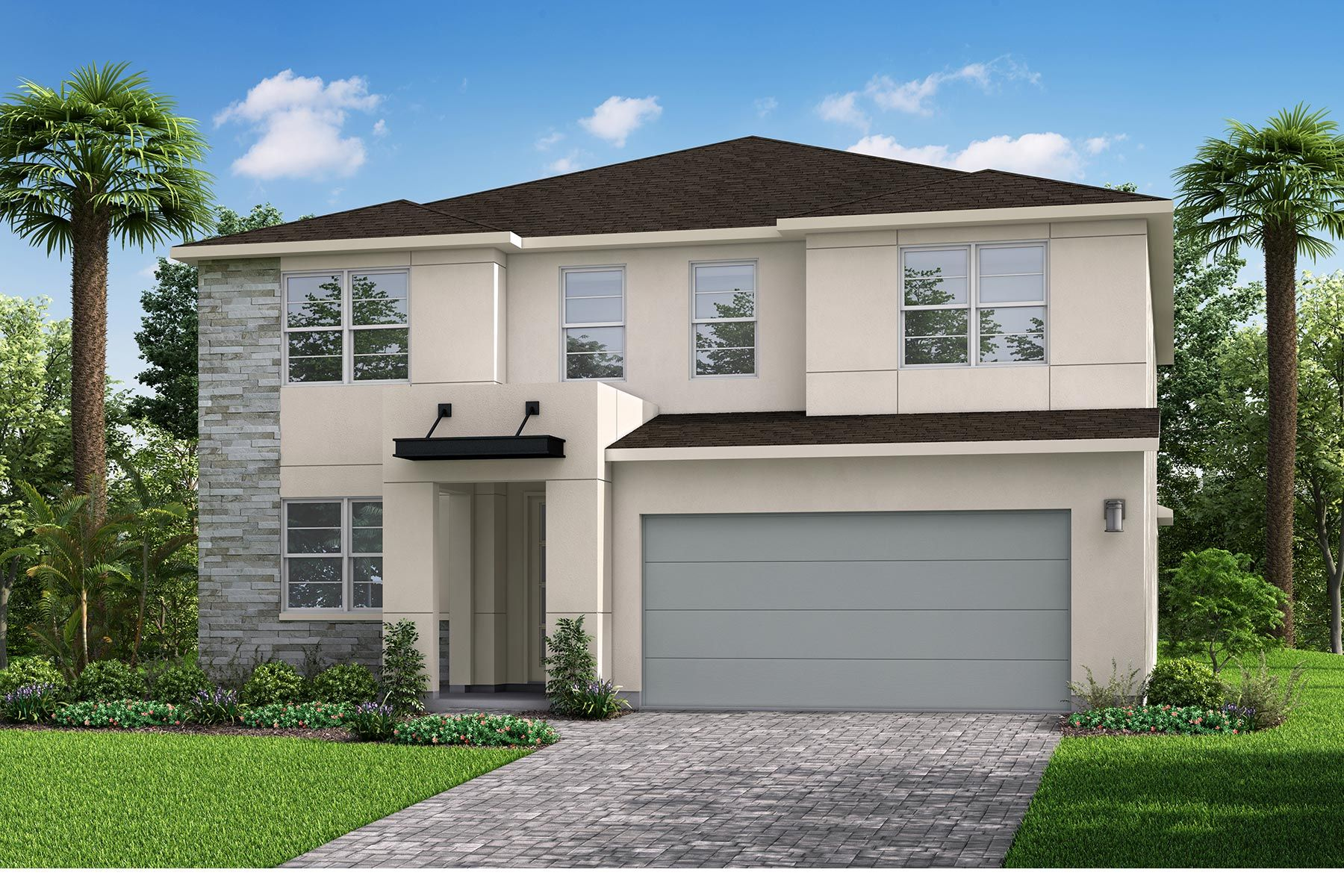 Exterior featured in the Quinton By Mattamy Homes in Tampa-St. Petersburg, FL