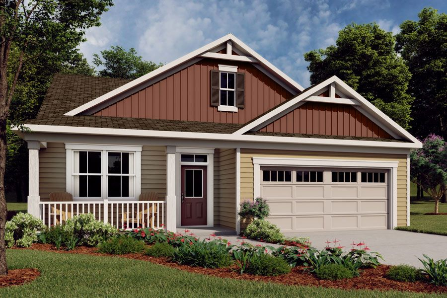 Exterior featured in the Evelyn II By Mattamy Homes in Raleigh-Durham-Chapel Hill, NC