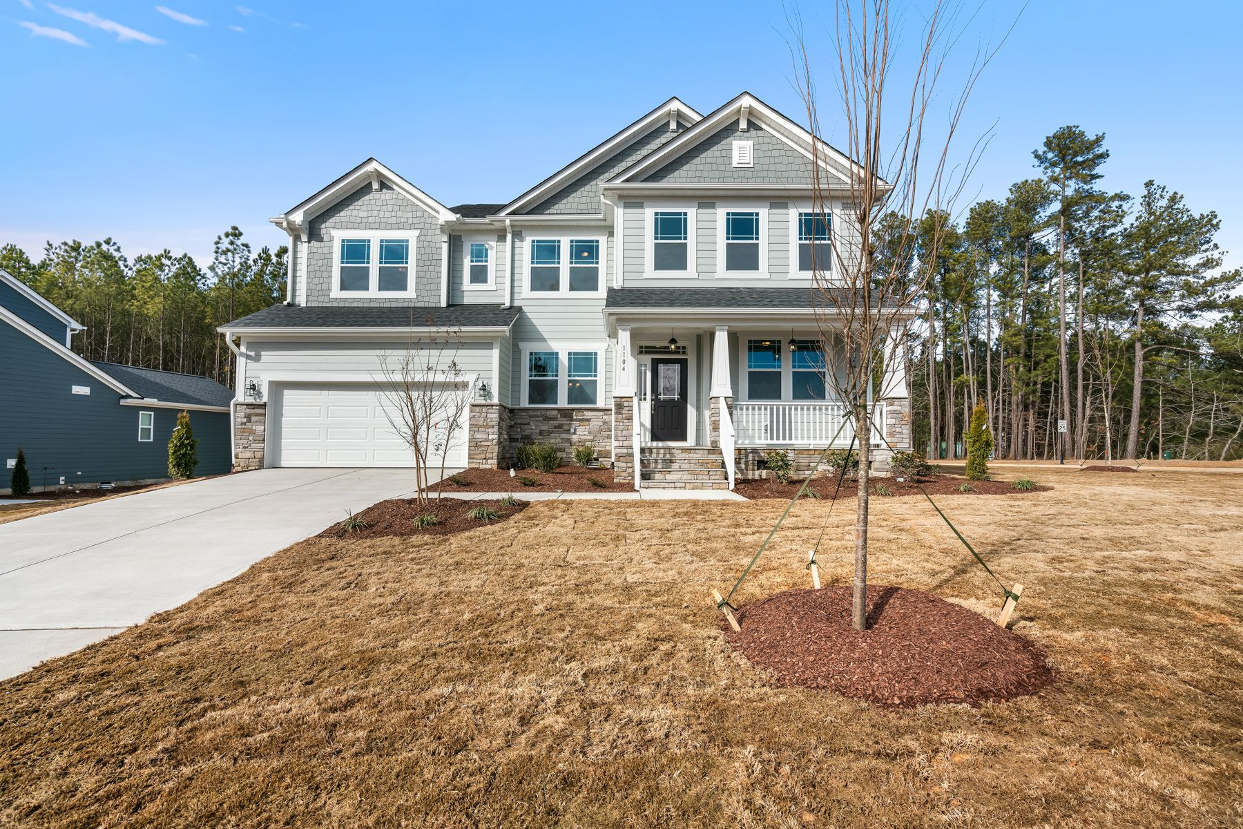 Exterior featured in the Mitchell By Mattamy Homes in Raleigh-Durham-Chapel Hill, NC