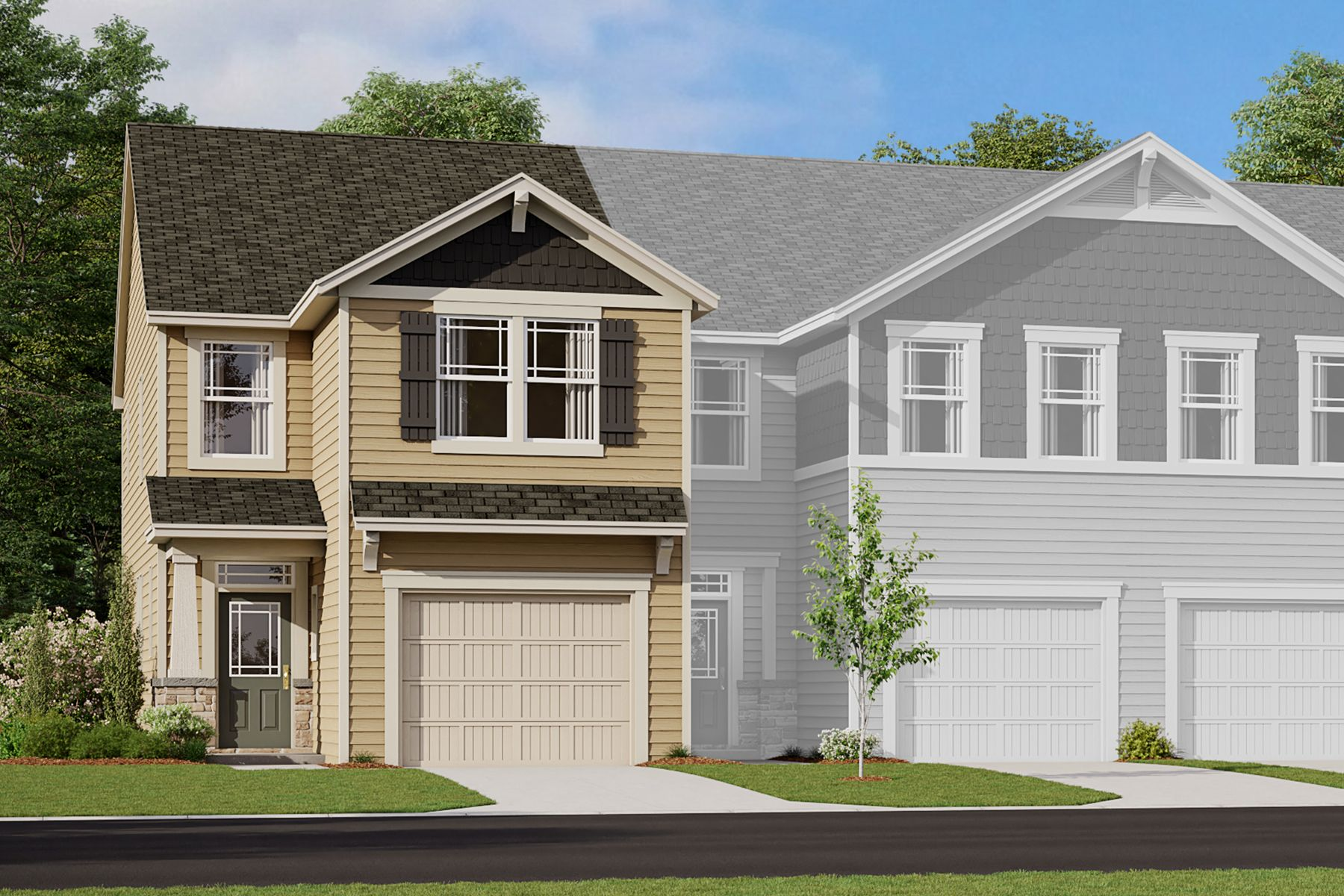 Exterior featured in the Adriana End By Mattamy Homes in Charlotte, NC