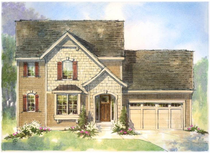 The Waverly by Mayberry Homes:Welcome to the Waverly. This wonderful first floor master plan offers an array of possibilities. A flex room off the foyer can be either a study or an additional bedroom. The open concept of the two story Great Room to the Dining and Kitchen make it a won