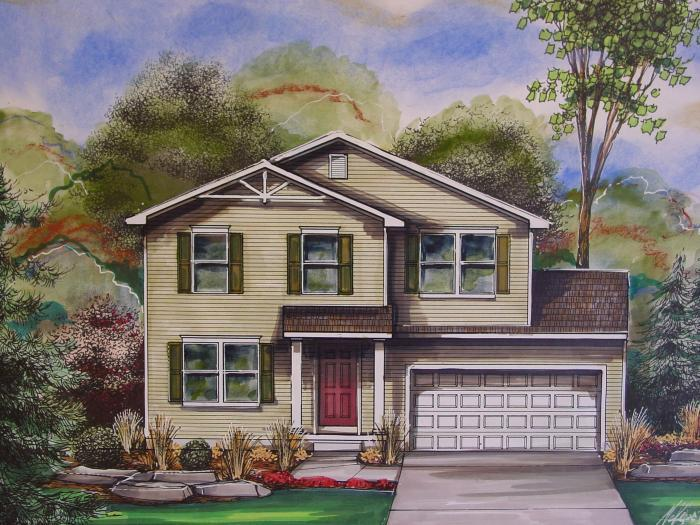 Exterior featured in the Hickory By Mayberry Homes in Flint, MI