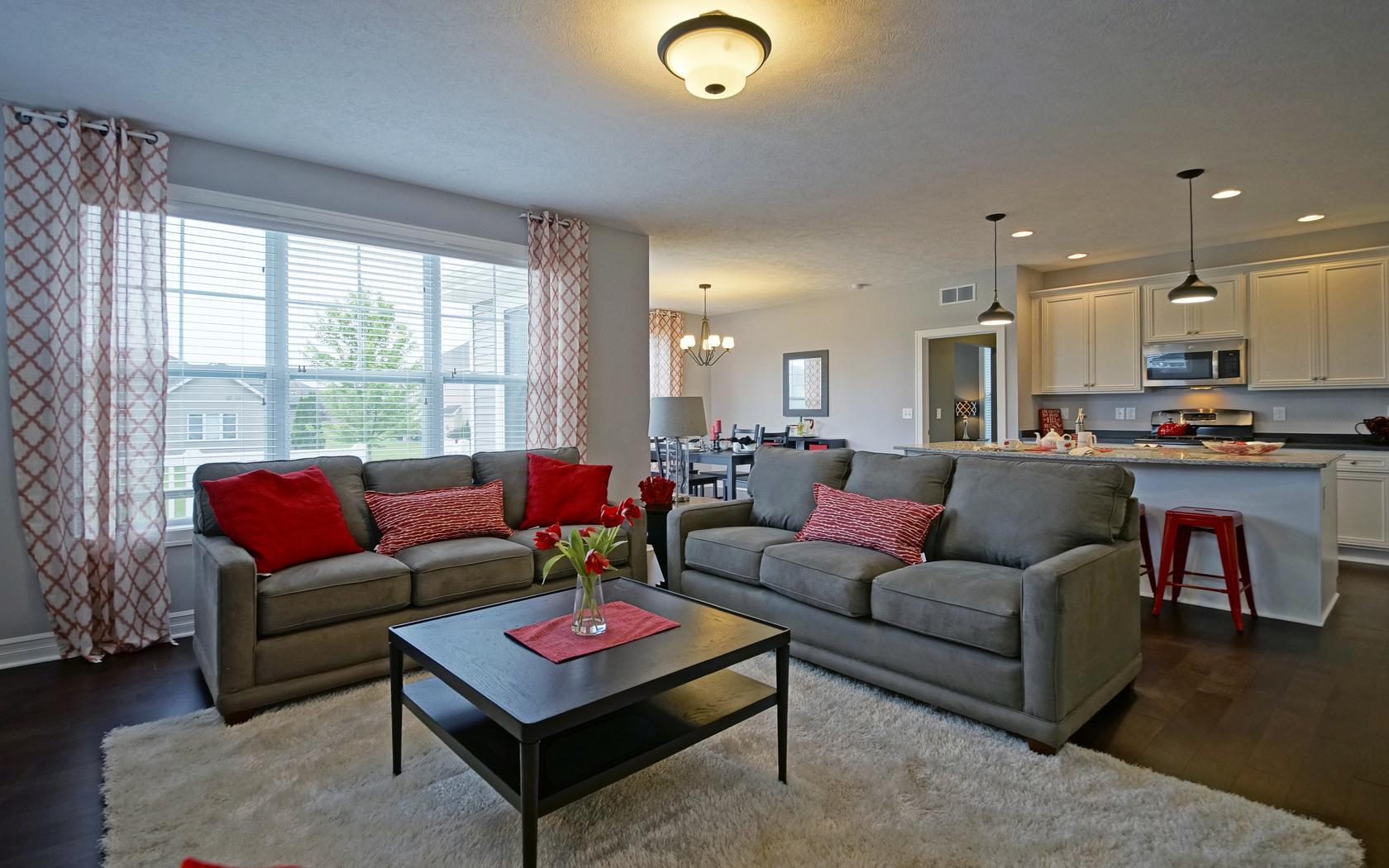 Living Area featured in the Newcastle By Mayberry Homes in Flint, MI