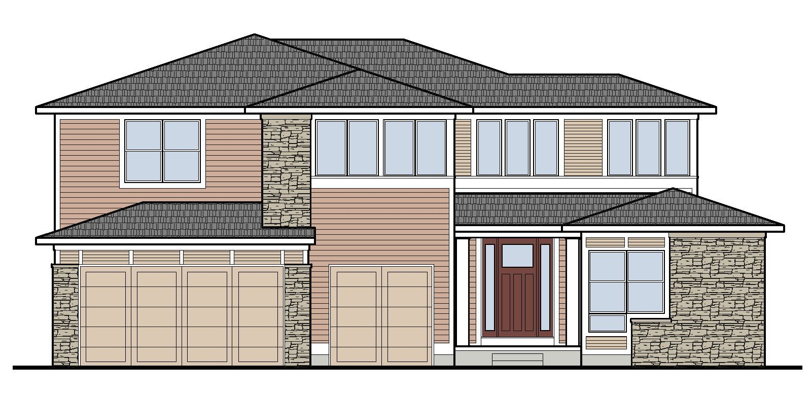 Exterior featured in the Prescott By Mayberry Homes in Lansing, MI